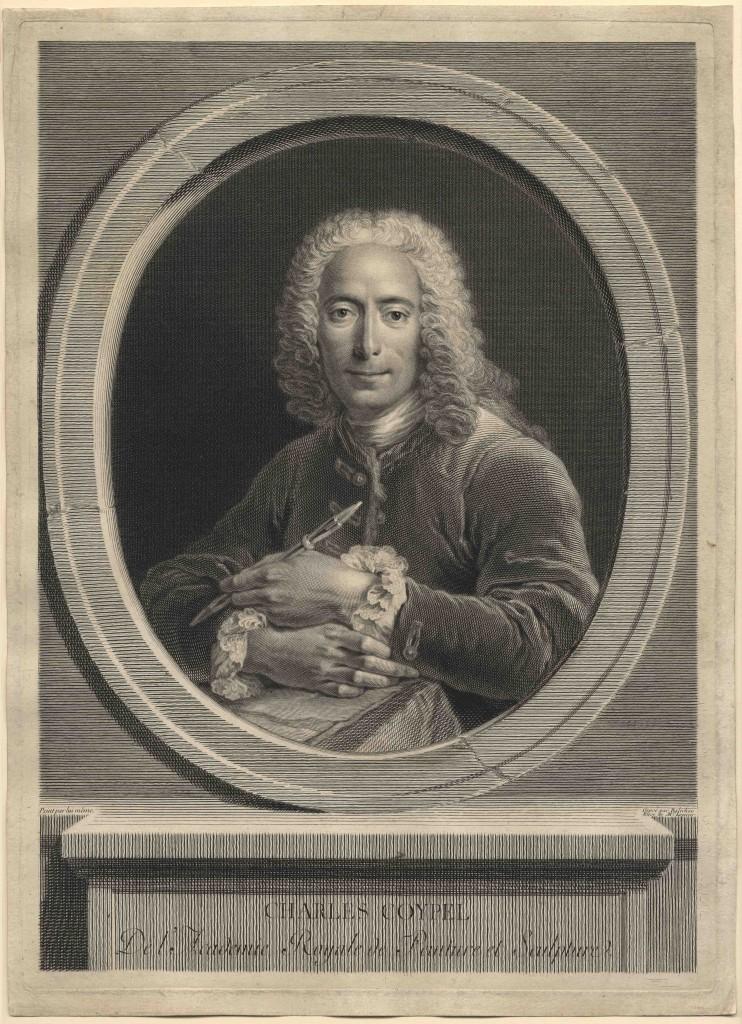 Jean-Joseph Balechou, Portrait of the Painter Charles Coypel, 1749, Engraving, 15 1/4h x 10 15/16w in