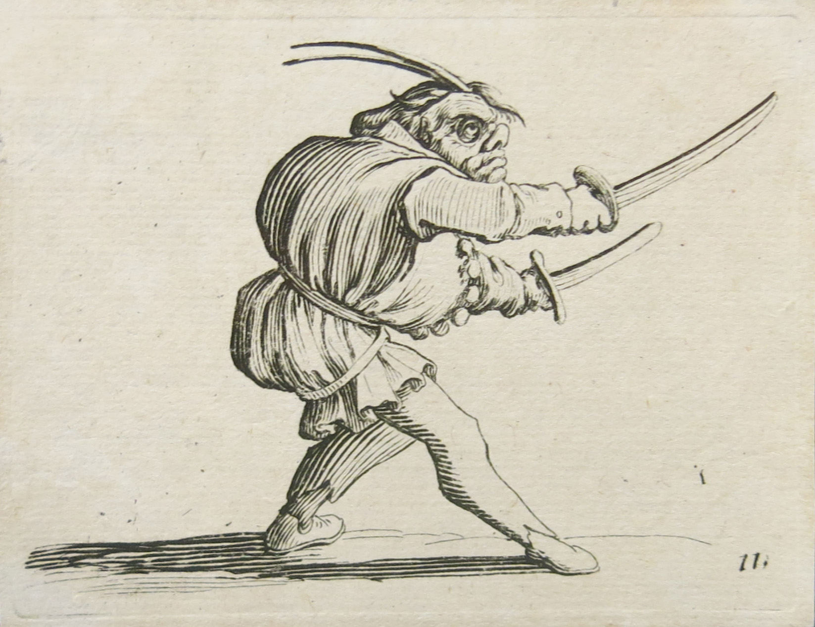 Jacques Callot, Les Gobbis, 1616, Etching (set of 20), 2 1/2h x 3 1/2w in