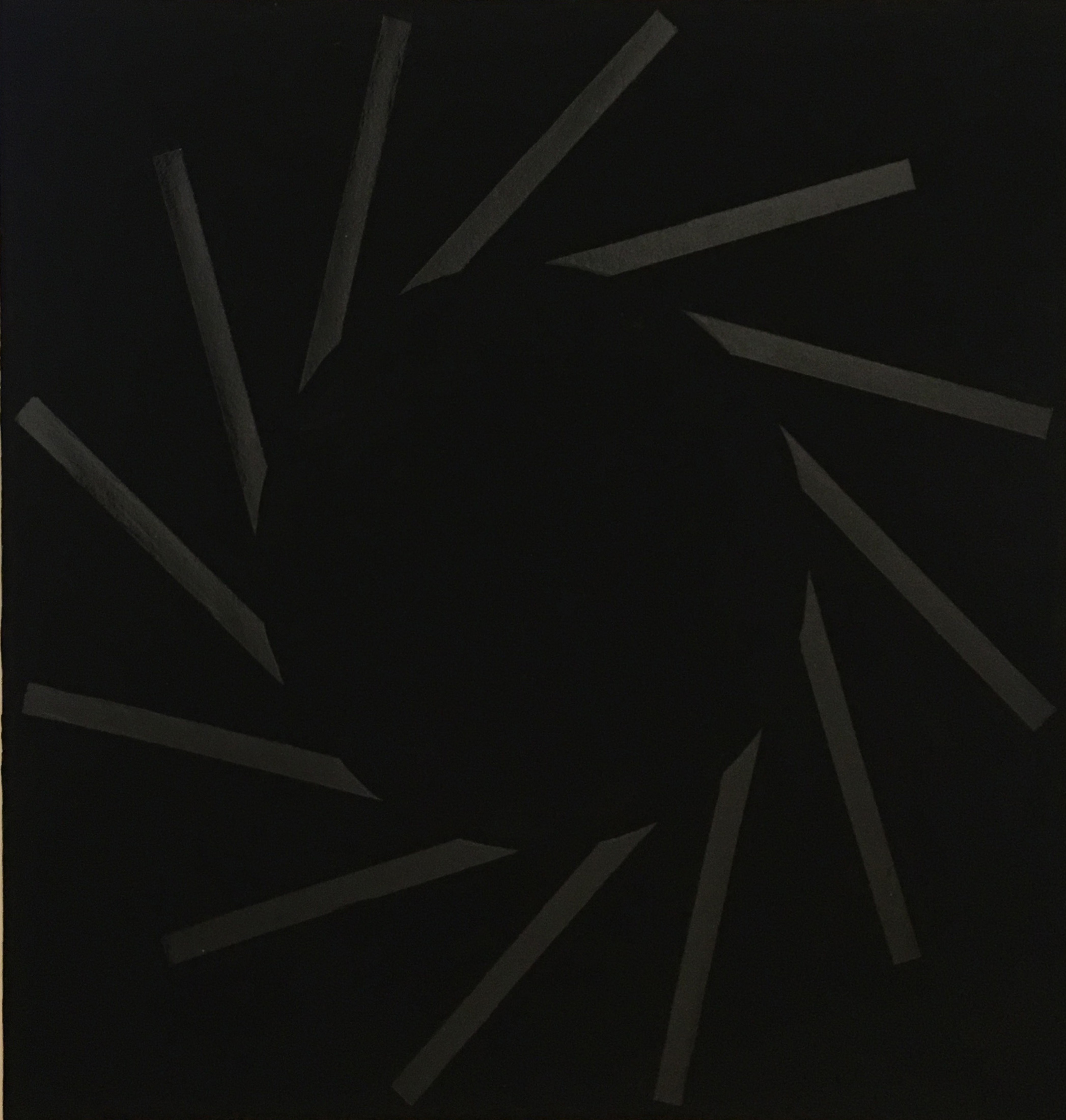 Paul Mogensen, Untitled,  c. 2014-2016, Black acrylic & black gouache, 22h x 30w in.