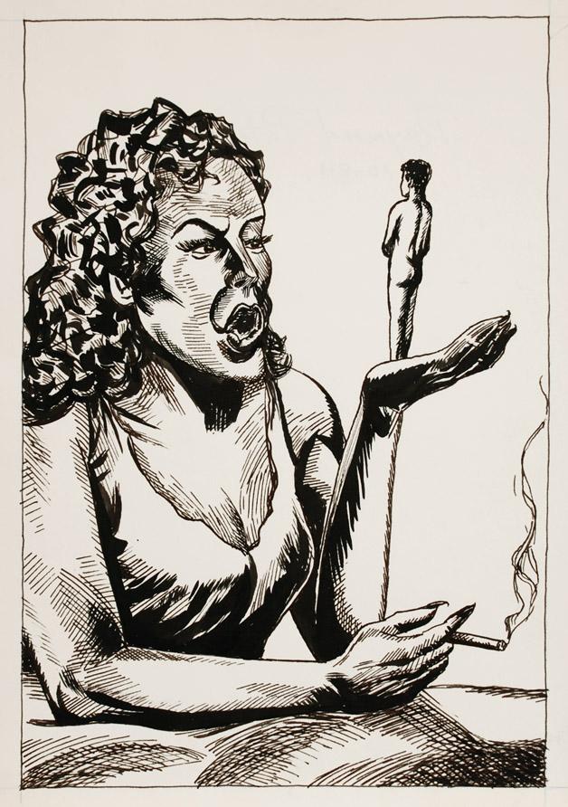 Raymond Pettibon, Untitled, 1984, Ink on paper, 14h x 10 1/4w in.