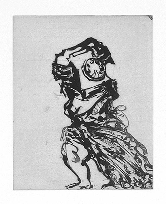 William Kentridge, Zeno at 4am, 2000, Aquatint, 14h x 11 5/8w in