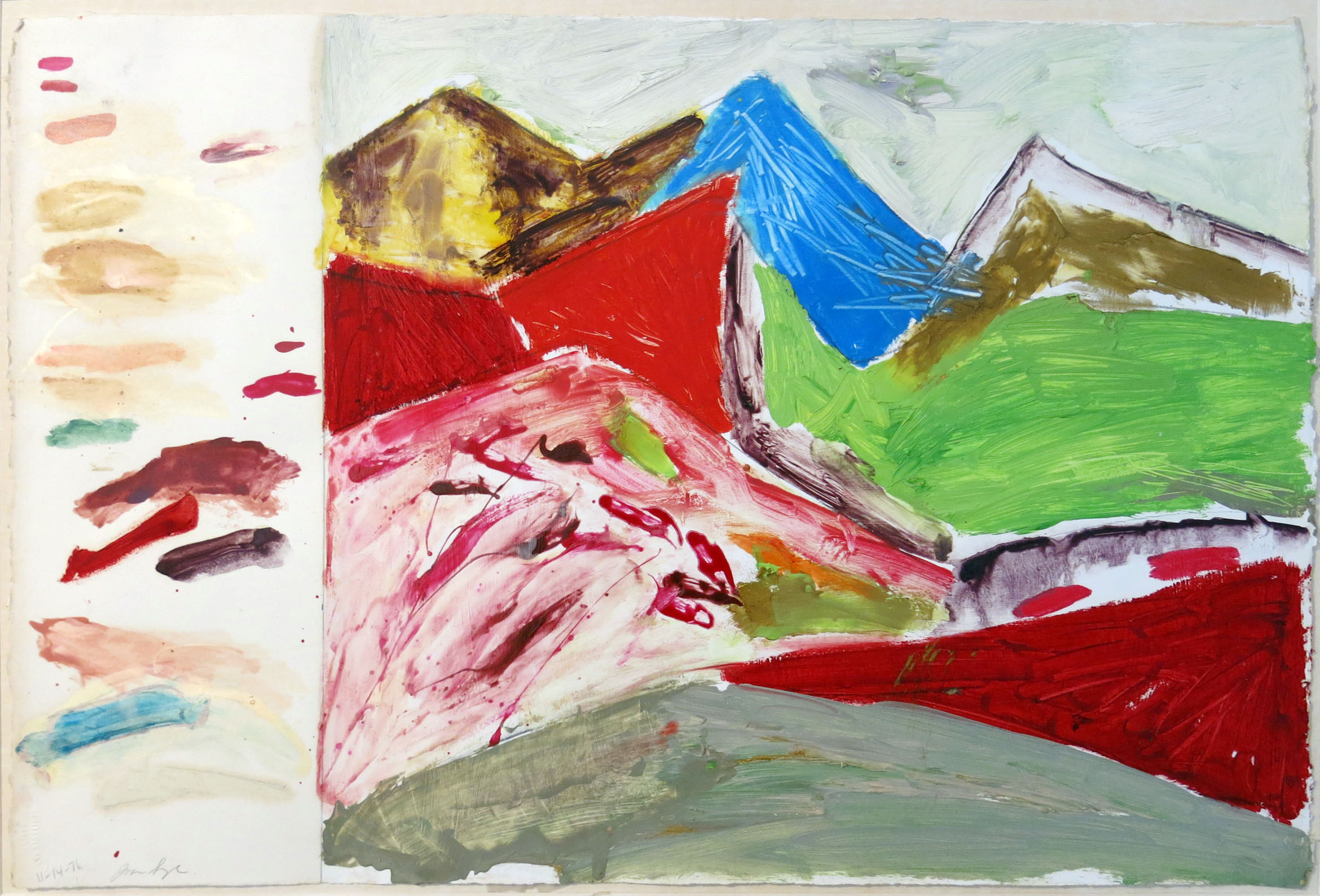 Joan Snyder, Untitled, 1976, Mixed media on paper, 15.5h x 22.5w in