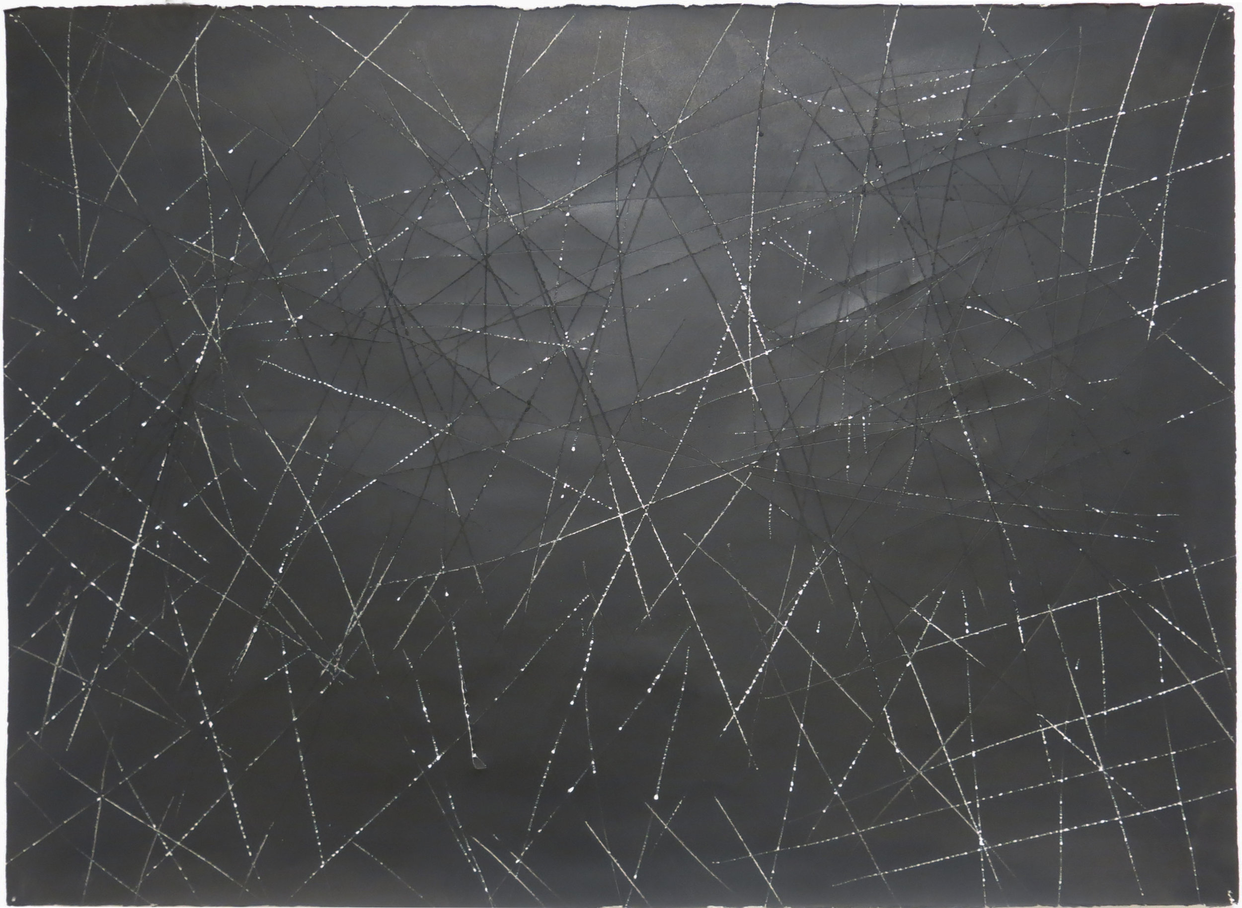 Edward Finnegan,  #5 (Chaos Series) , February 23, 1985, Ink on arches paper, 22.5h x 30w in.
