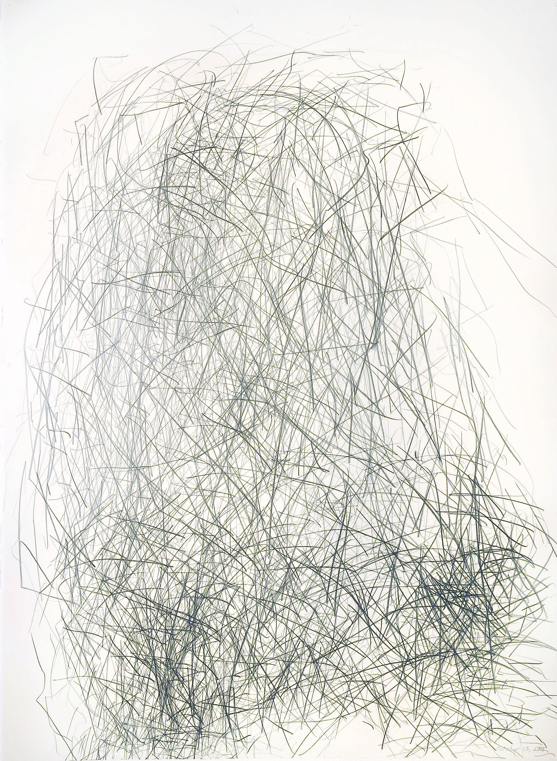 Edward Finnegan,  October 13, 1999 (Portraits series) , 1999, Graphite on paper, 30h x 22.5w in.