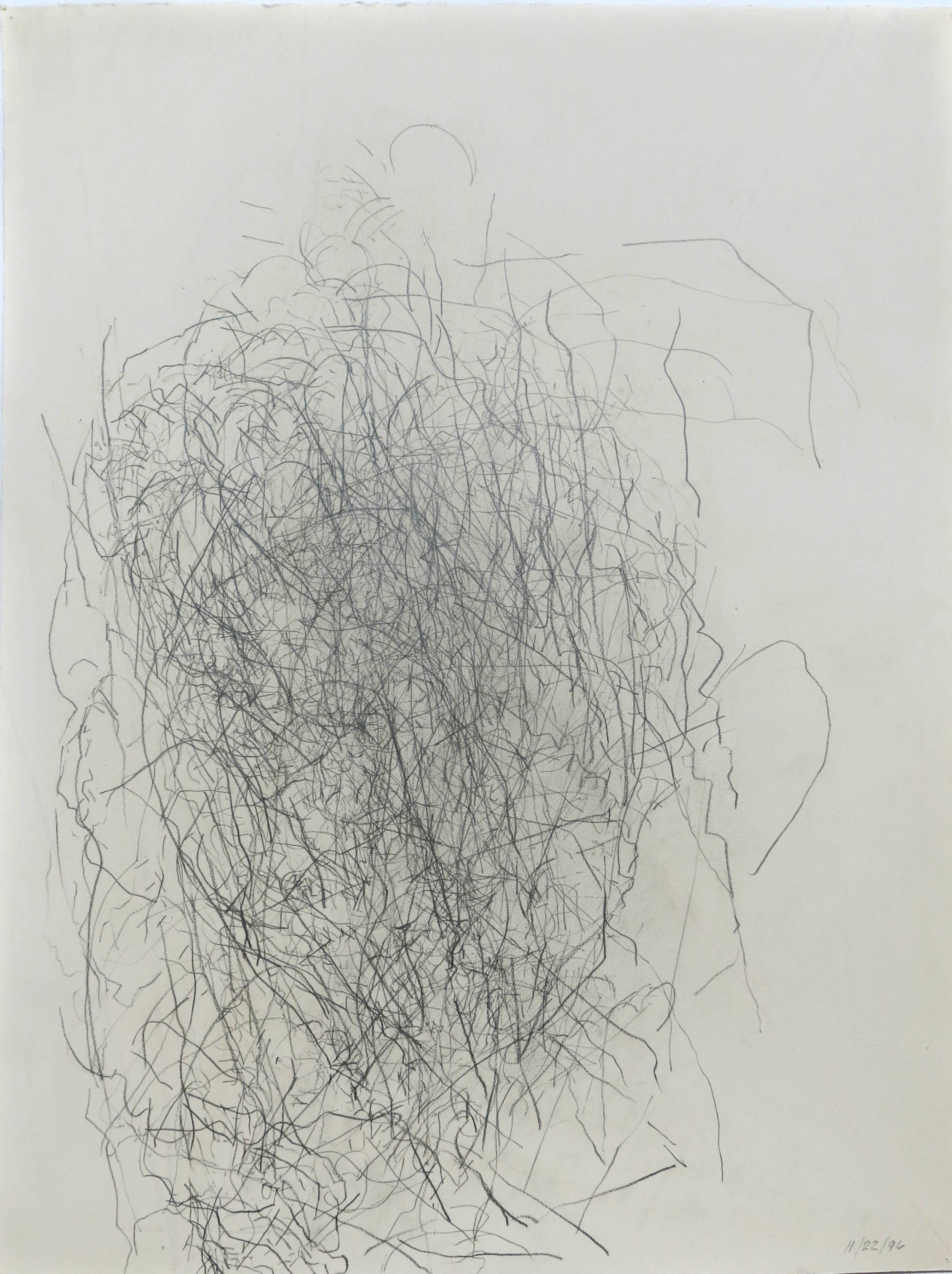 Edward Finnegan,  November 22, 1996 (Portraits series) , 1996, Graphite on paper, 30h x 22.5w in.