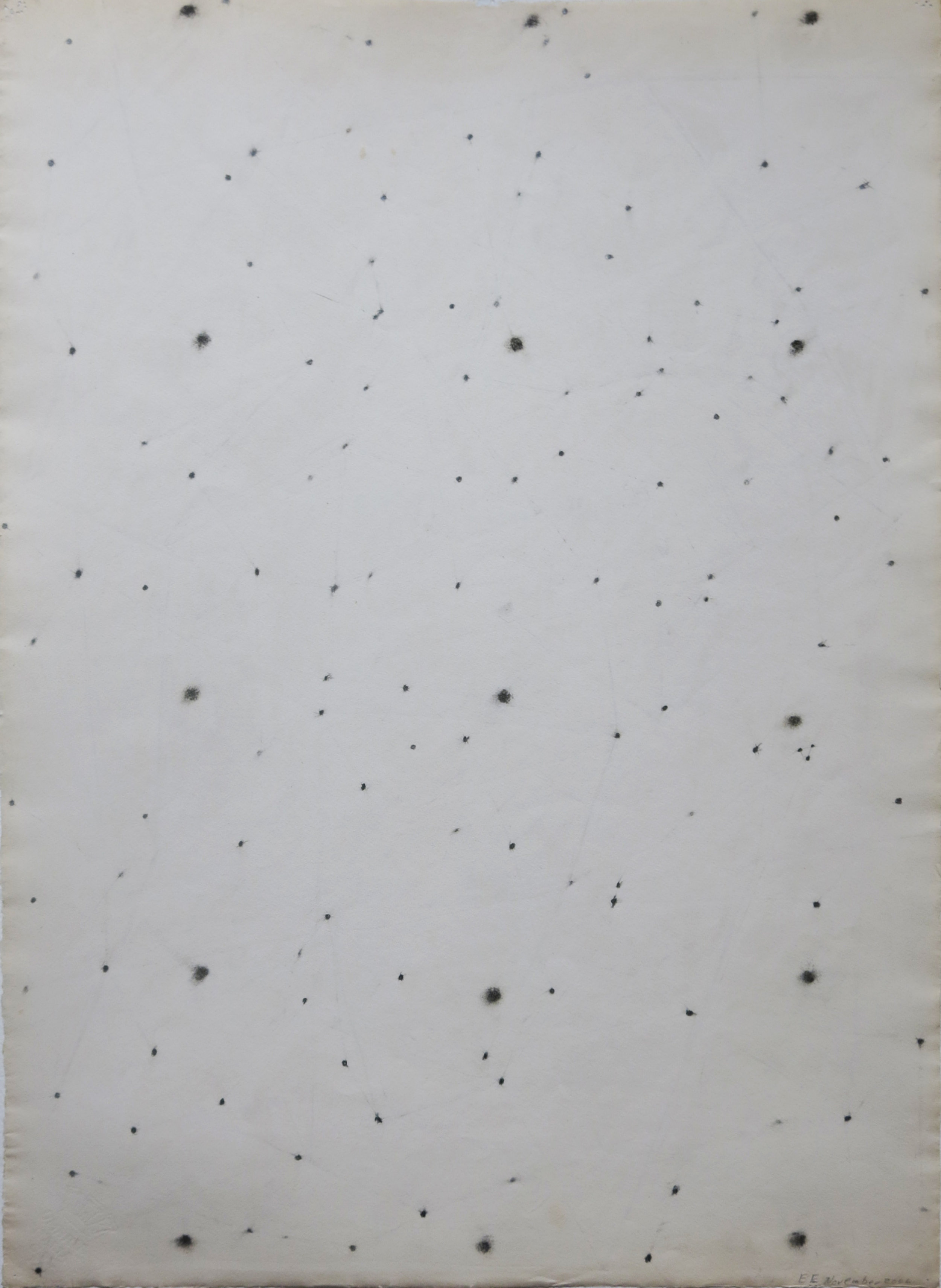 Edward Finnegan,  (Constellation Series),  November, 2006, Graphite on paper, 27.5h x 20w in.