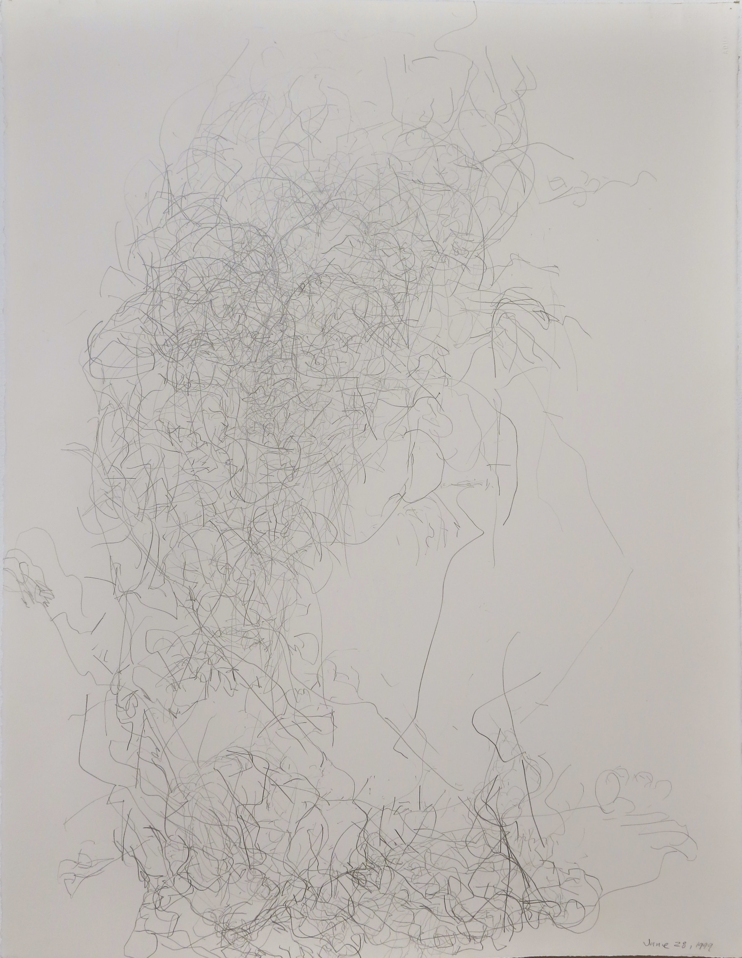Edward Finnegan,  June 28, 1999 (Portraits series) , 1999, Graphite on paper, 30h x 22.5w in.