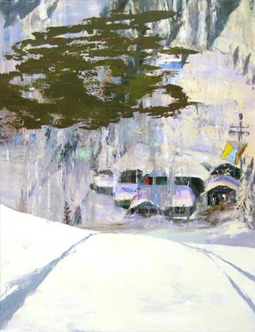 Judith Simonian, Shining, 2010, Acrylic on canvas, 76h x 58w in.
