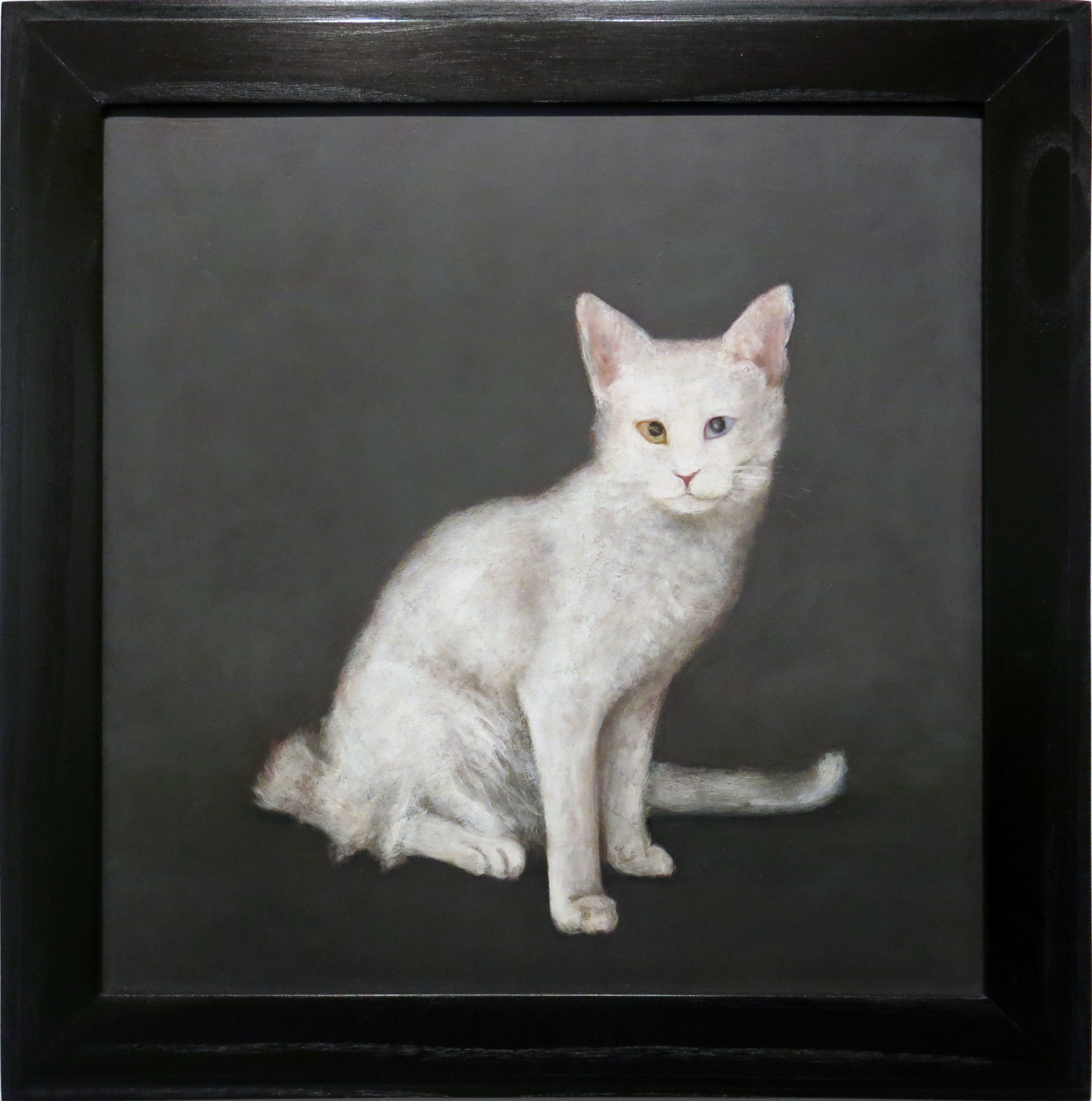 Mary Jo Vath,  Deaf Cat,  1987, Oil on masonite, 14.5h x 14.5w in.