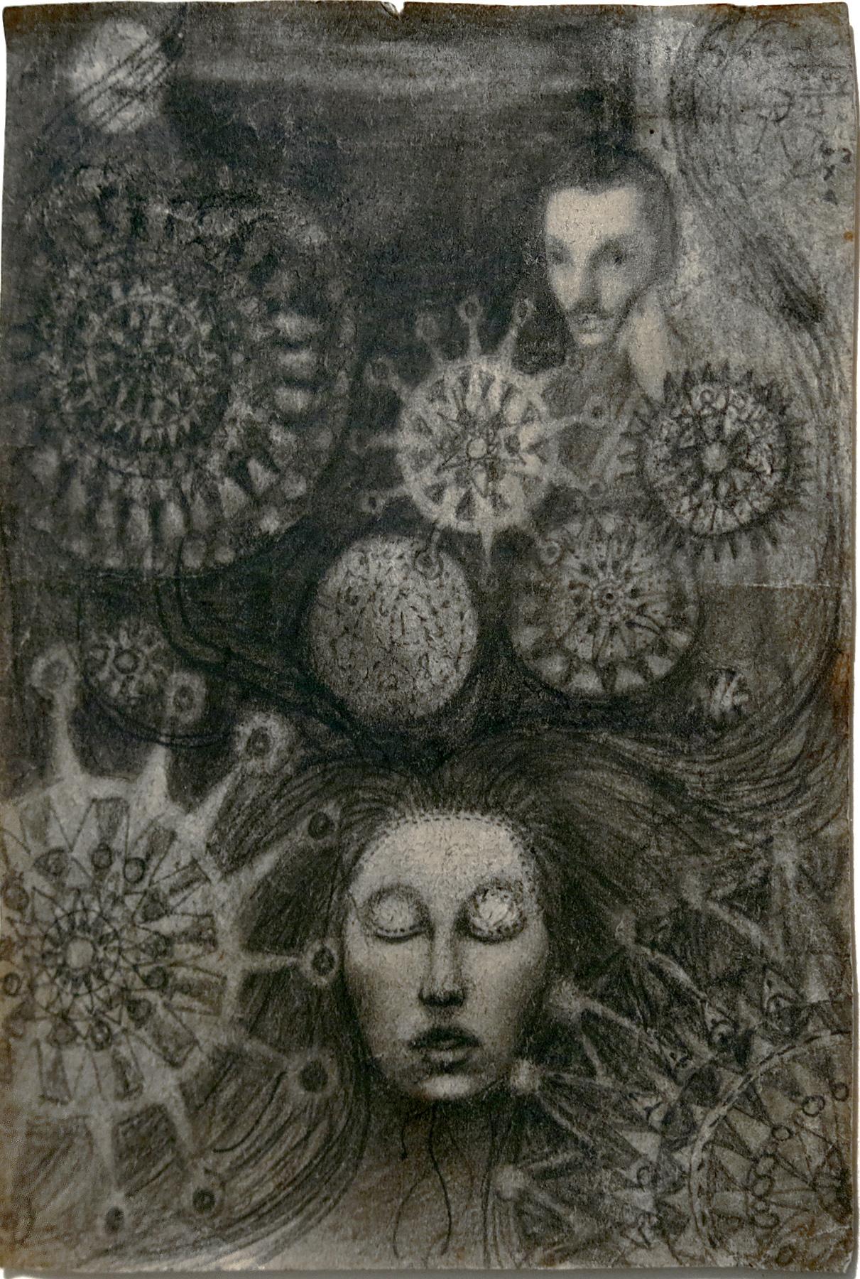 June Leaf, Arthur, 1951, Pencil on paper, 6.25h x 4.5w in.