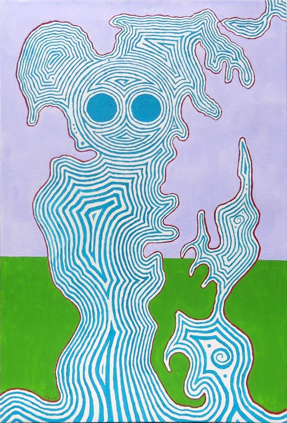 Chuck Boyce, Blue Figure, 2011, oil on canvas, 30h x 20w in.