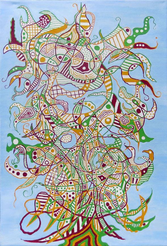 Chuck Boyce, Big Tree, 2012, oil on canvas, 30h x 20w in.