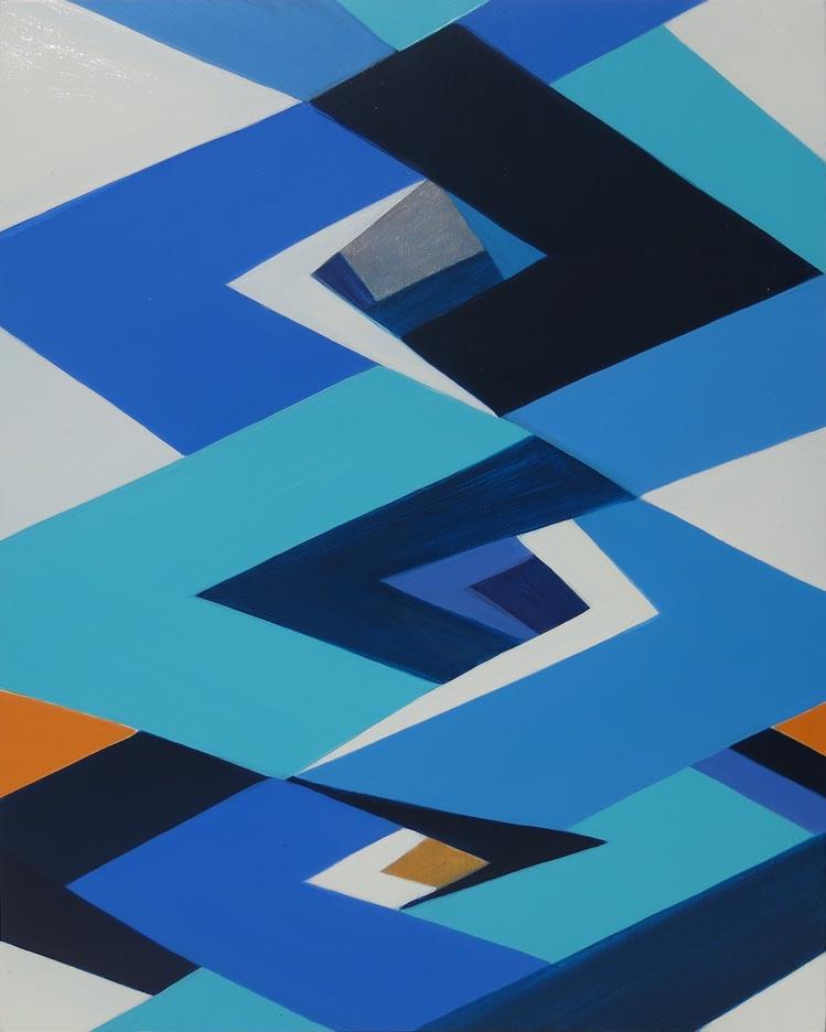 Jenifer Kobylarz, Echo, 2016, oil on wood panel, 18h x 14w in.