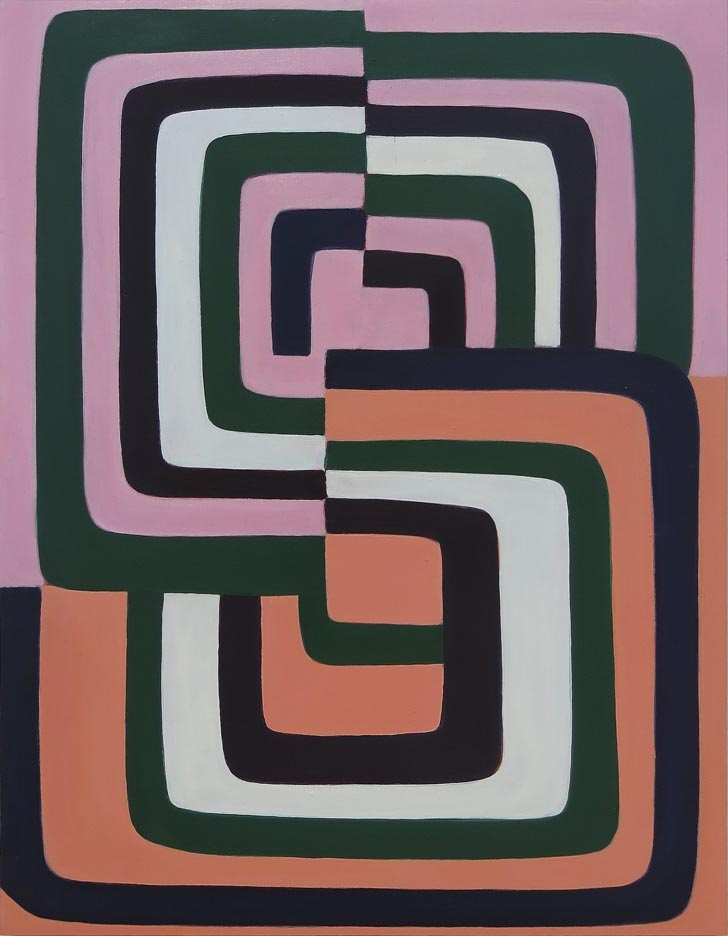 Jenifer Kobylarz, Insider, 2016, oil on wood panel, 16h x 12w in.
