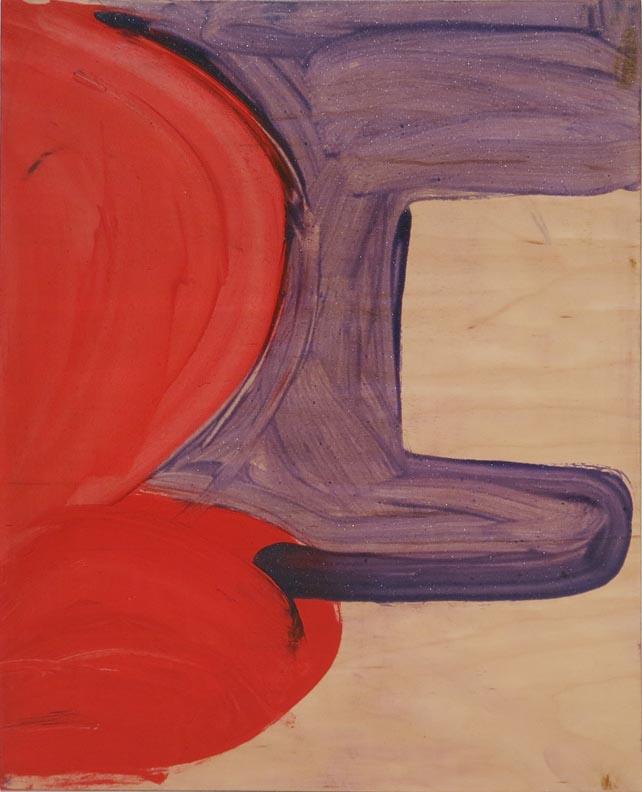 Andrea Belag, Purple, 2016, oil on wood, 15h x 12w in.