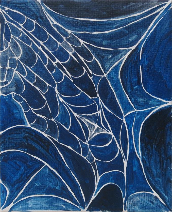 Rachel Malin, Spun, 2015, oil on canvas, 10h x 8w in.