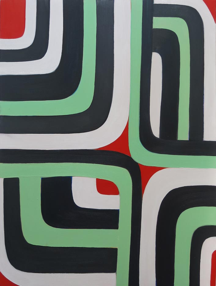 Jenifer Kobylarz, Untitled (area), 2016, oil on wood panel, 16h x 12w in.