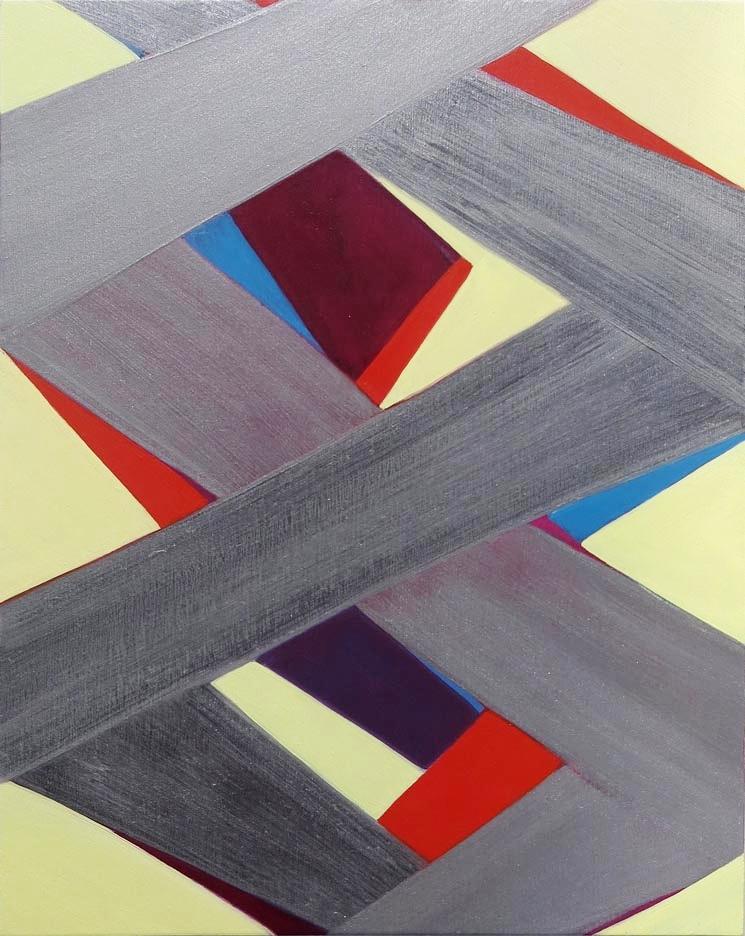 Jenifer Kobylarz, Untitled (silver), 2015-16, oil on wood panel, 14h x 11w in.