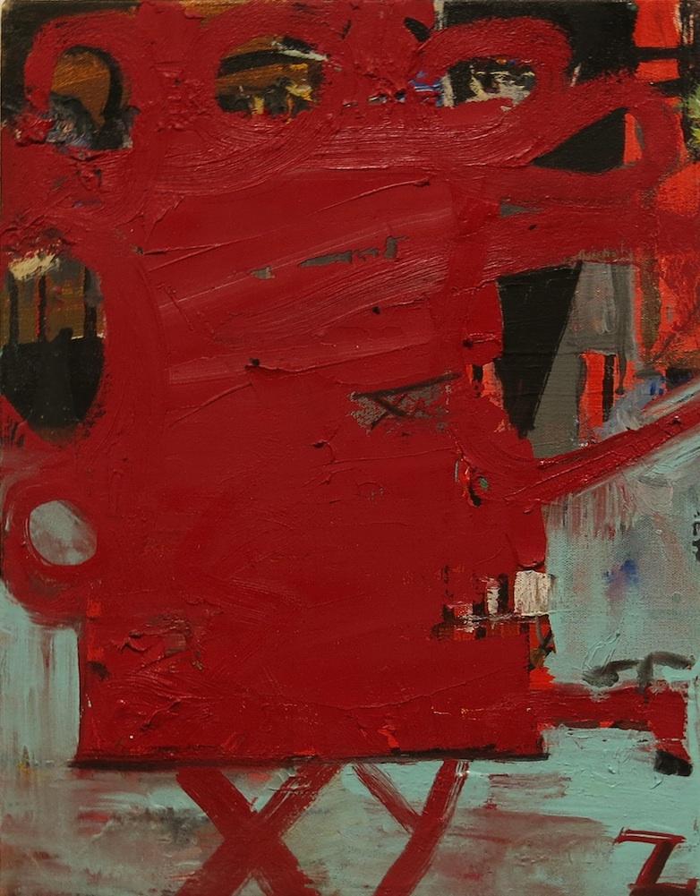 Matt Blackwell, Mr.Furious, 2014, oil on canvas, 13h x 10w in.