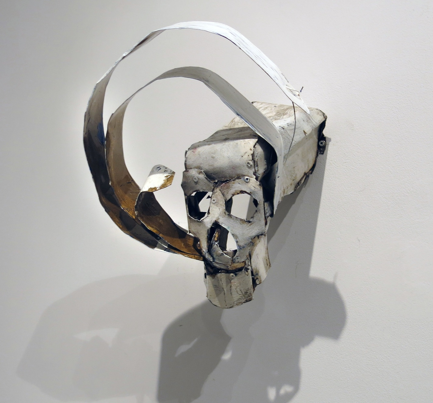 Matt Blackwell, Speaking in Circles, 2014, metal, wire, paint, 11h x 11w x 14d in.