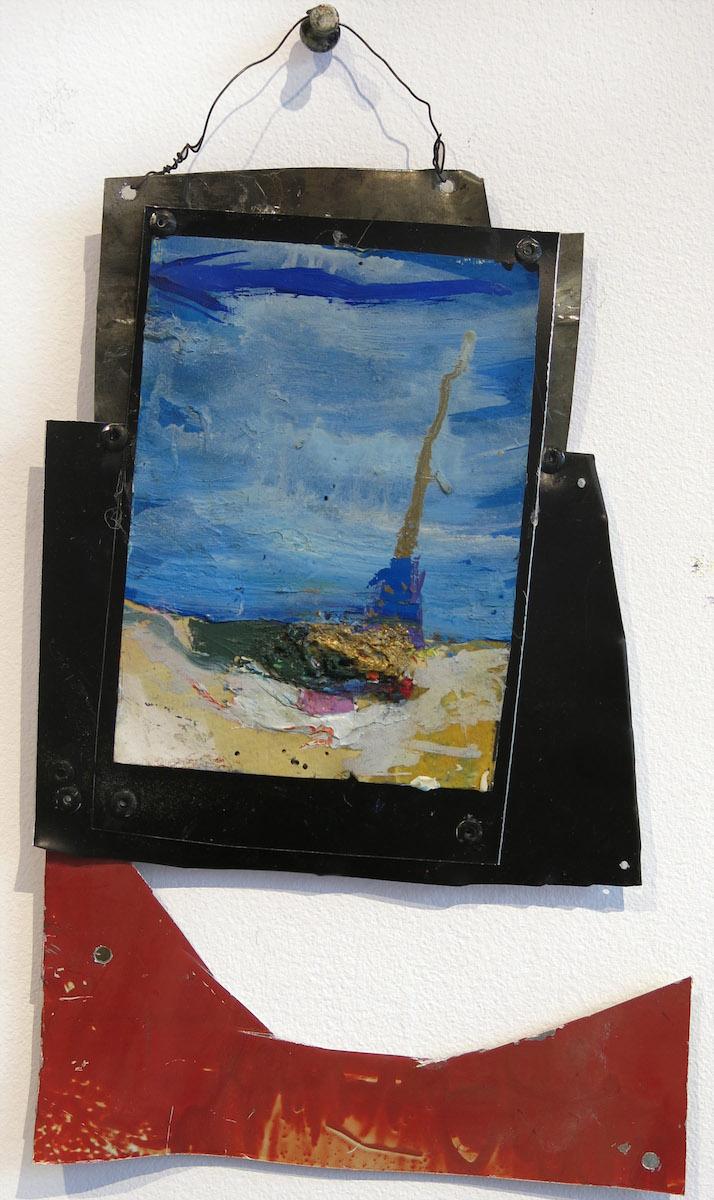 Matt Blackwell, The Story (Retablo), 2015, oil on tin, 9.5h x 6.25w in.