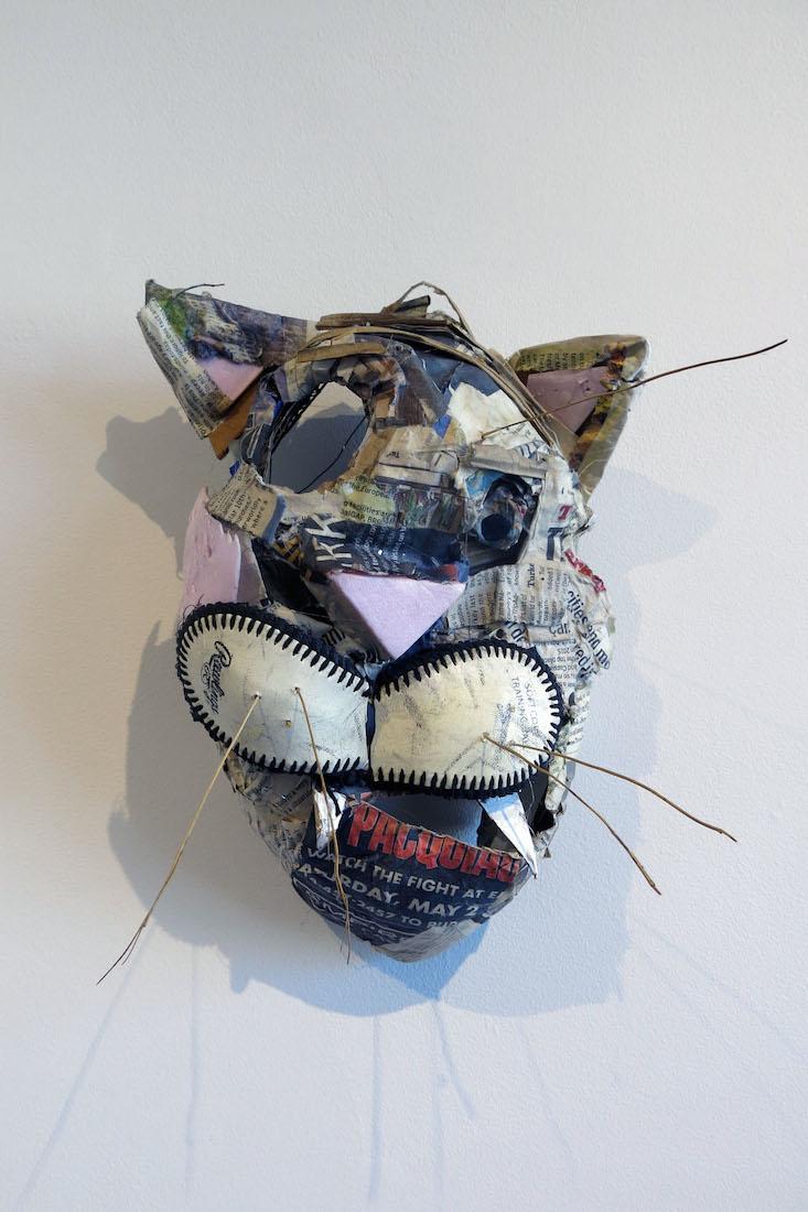 Matt Blackwell, One Eyed Cat, 2016, mixed media, 12h x 7.5w x 7d in.