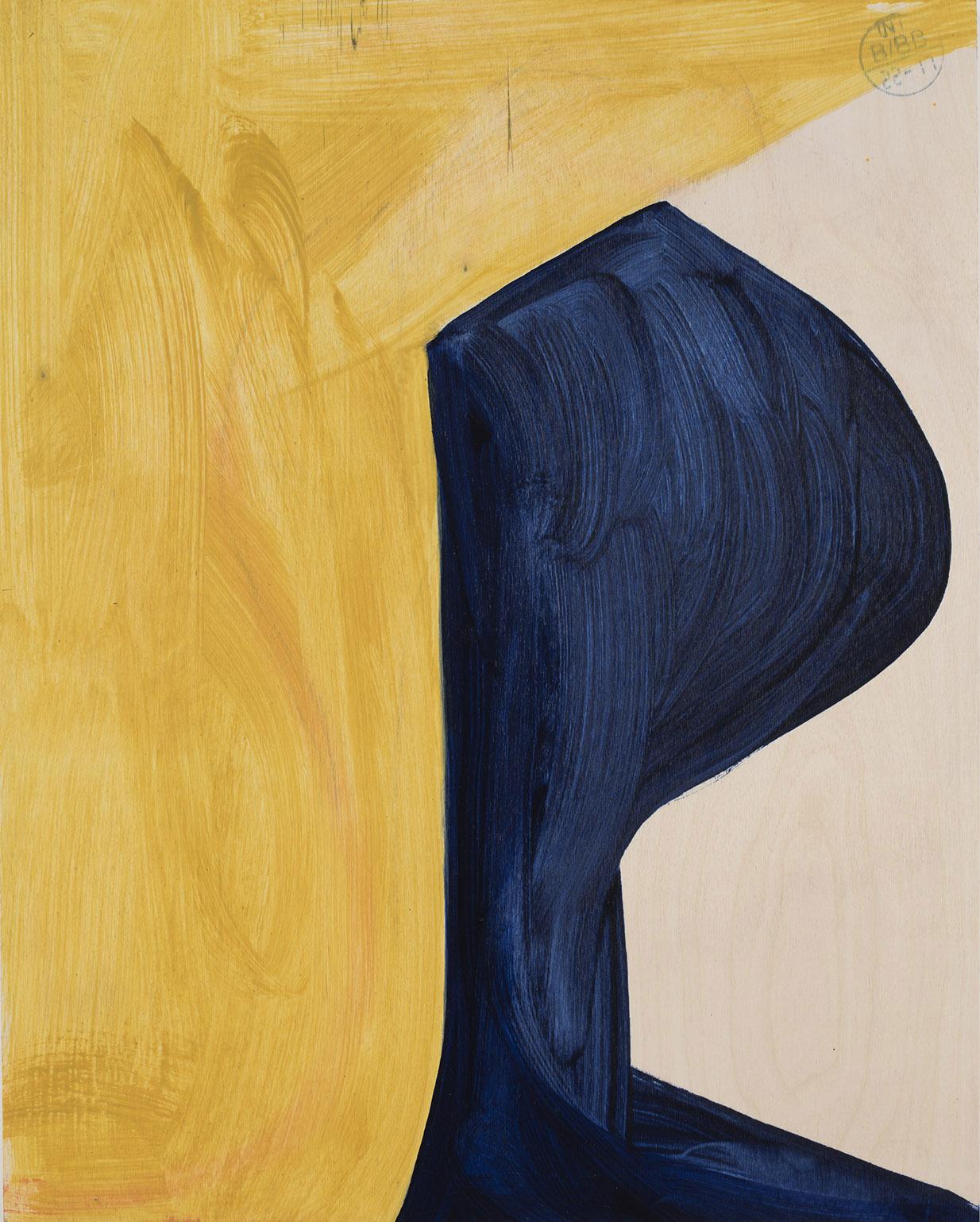 Andrea Belag, Mirror, 2016, oil on wood, 20h x 16w in.
