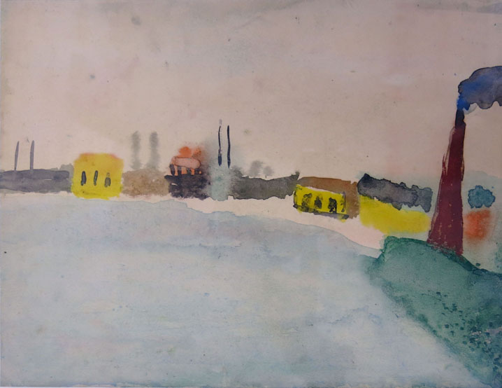 Charles W. Hutson, Back Harbor, c. 1915-1920, watercolor on paper, 8.75h x 11.5w in.