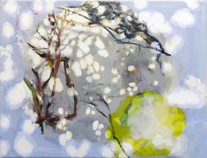 Judith Simonian, Two Seasons, 2014, Acrylic on canvas, 26h x 34w in.