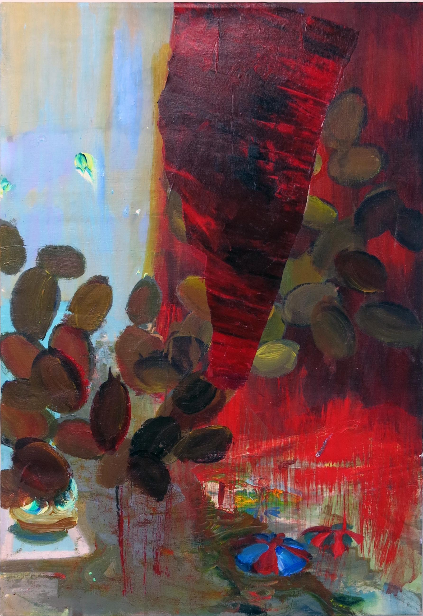 Judith Simonian, Coin Toss, 2014, acrylic on canvas, 26h x 18w in.