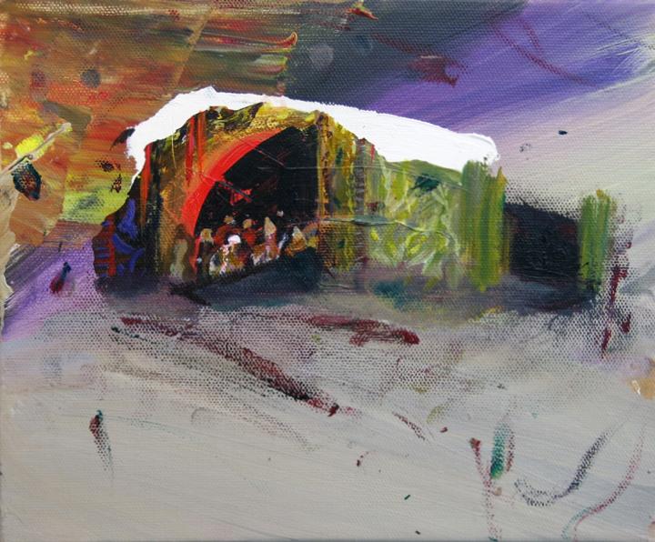 Judith Simonian, Opera House, 2014, acrylic on canvas, 8h x 10w in.
