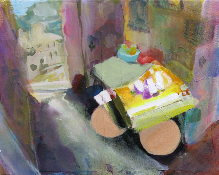 Judith Simonian, Tiny Sublet, 2015, acrylic on canvas, 8h x 10w in.