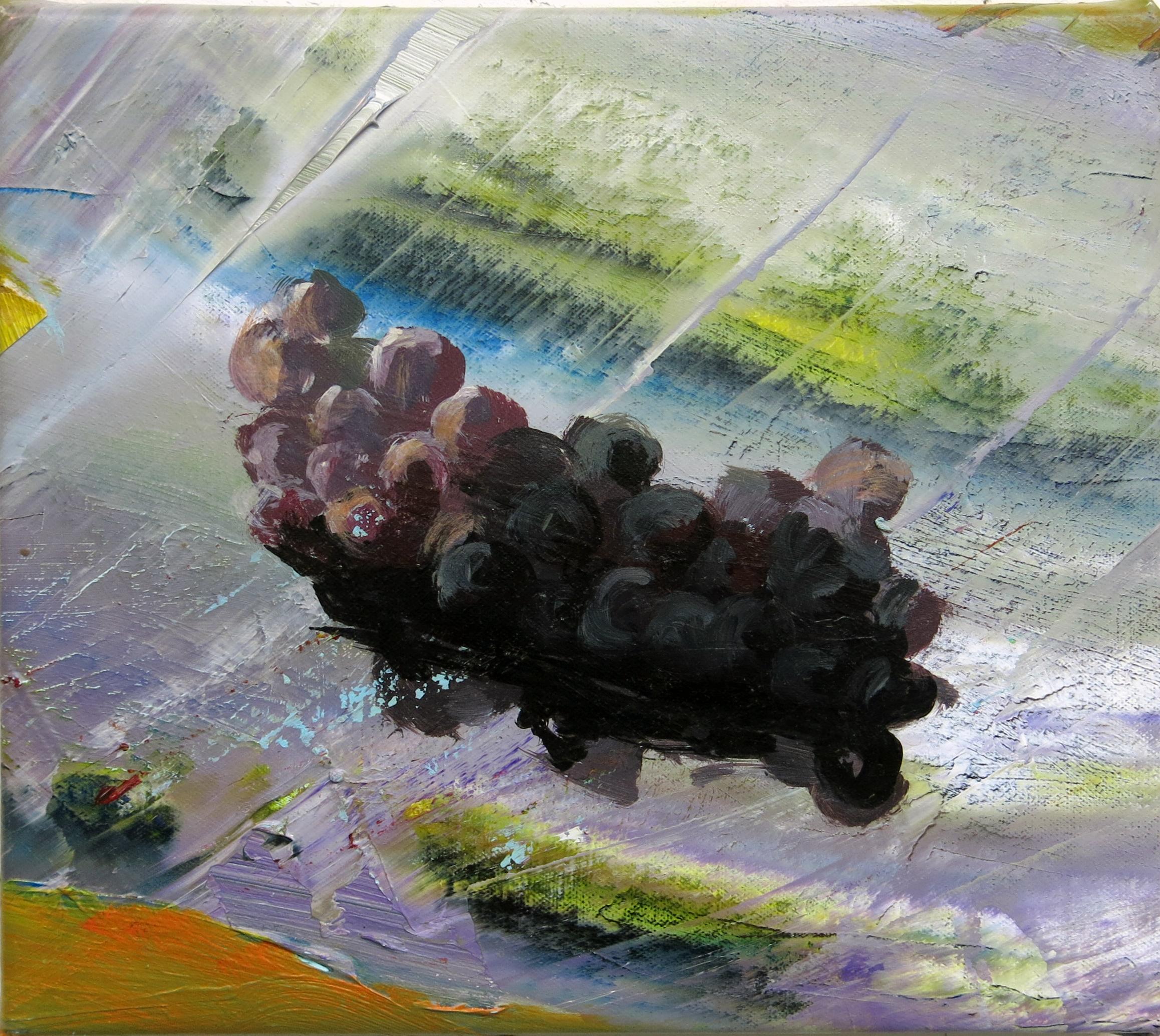 Judith Simonian, In the Rapids, 2014, acrylic on panel, 8h x 10w in.