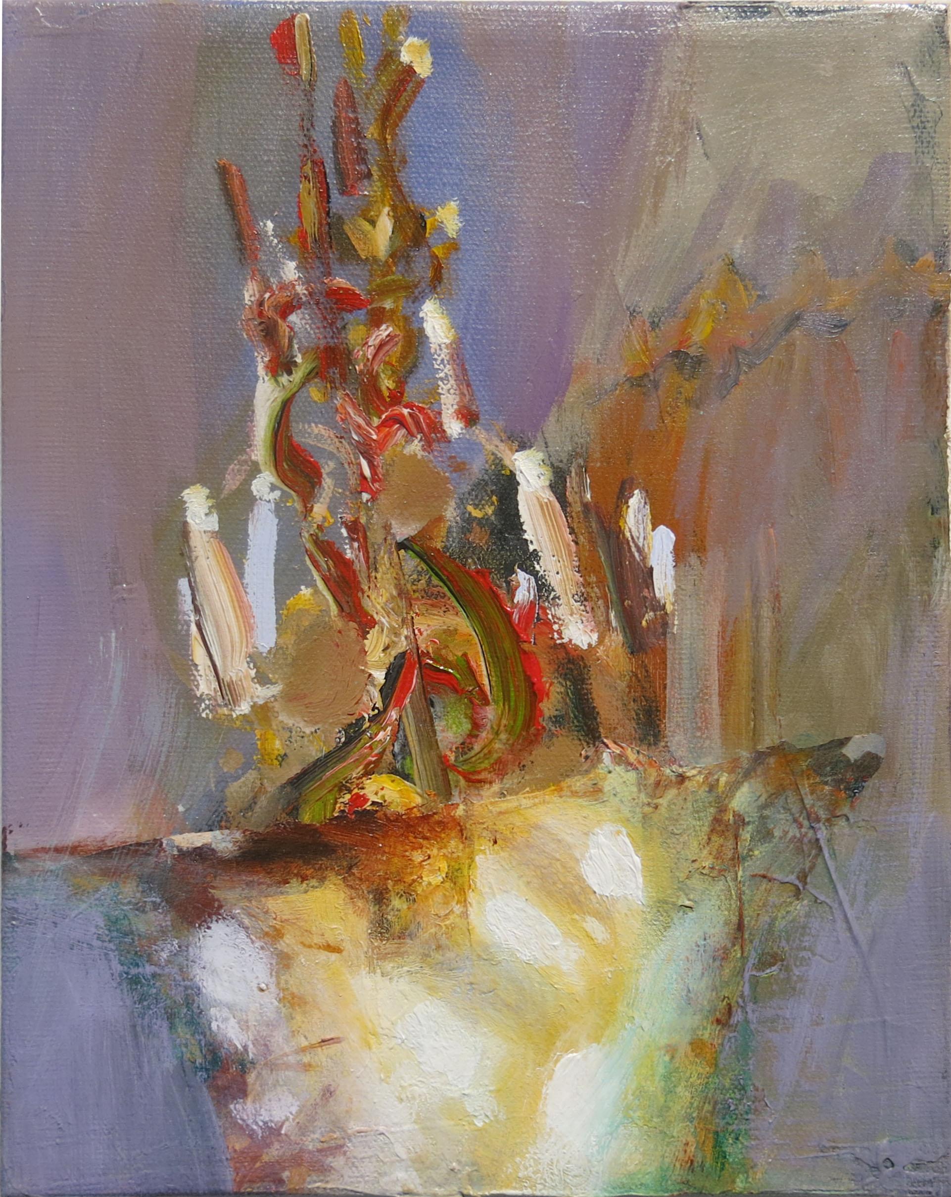 Judith Simonian, Artificial Light, 2014, acrylic on canvas, 10h x 8w in.