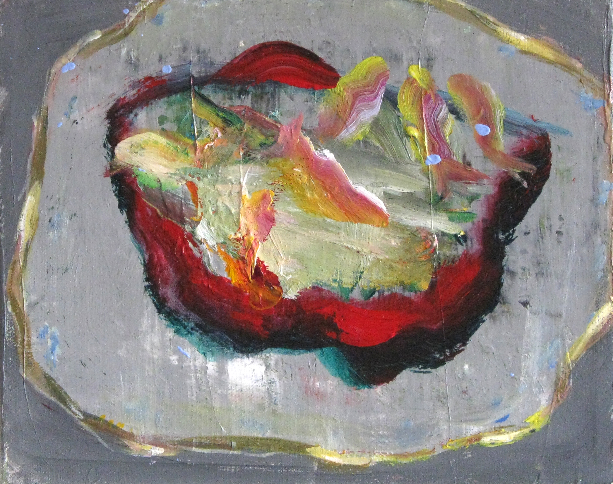 Judith Simonian, Red Fish Bowl, 2014, acrylic on canvas, 8h x 10w in.