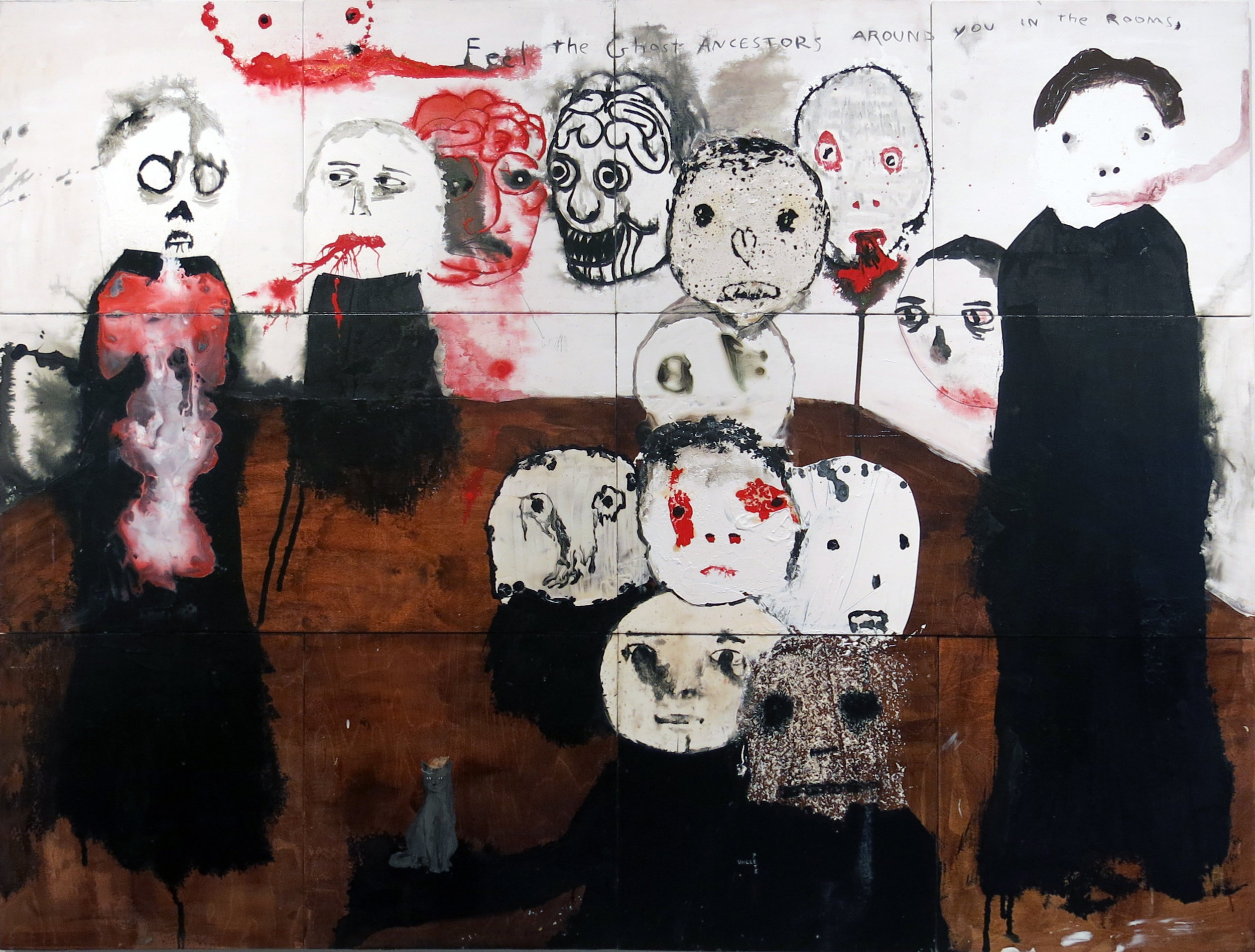 Neil Farber, Feel the Ghost Ancestors Around You in the Rooms, 2009, mixed media on panel, 54h x 72w in.