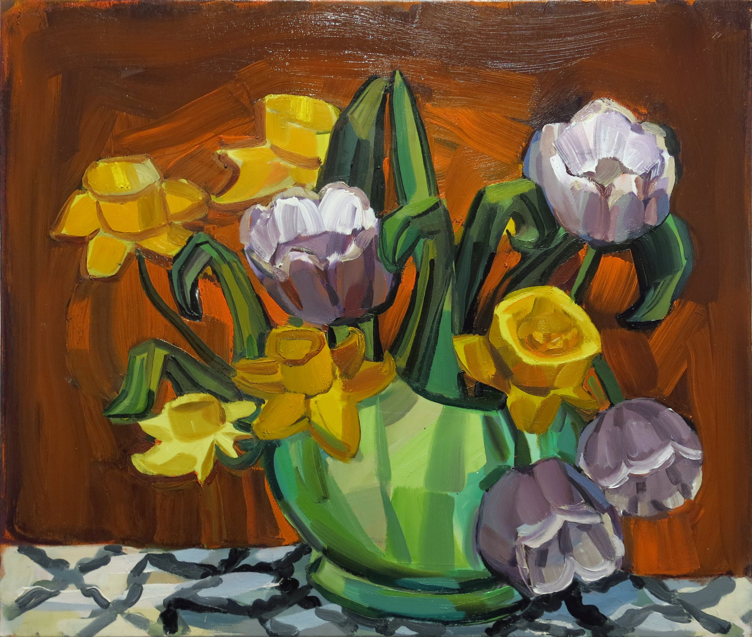 Judith Linhares, April, 2010, Oil on linen, 22h x 26w in.