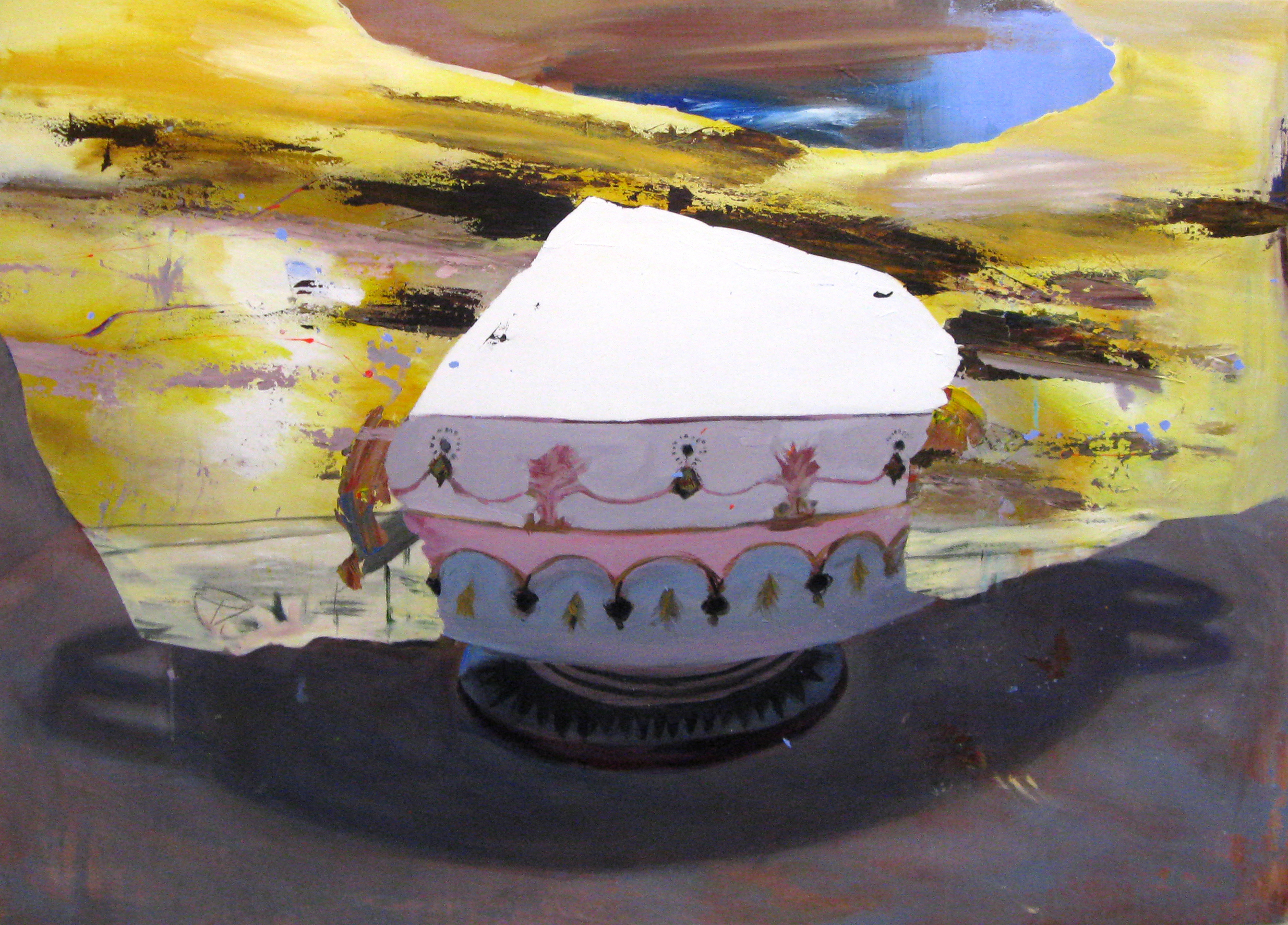 Judith Simonian, Snow Cone, 2014, acrylic on canvas, 46h x 64w in.