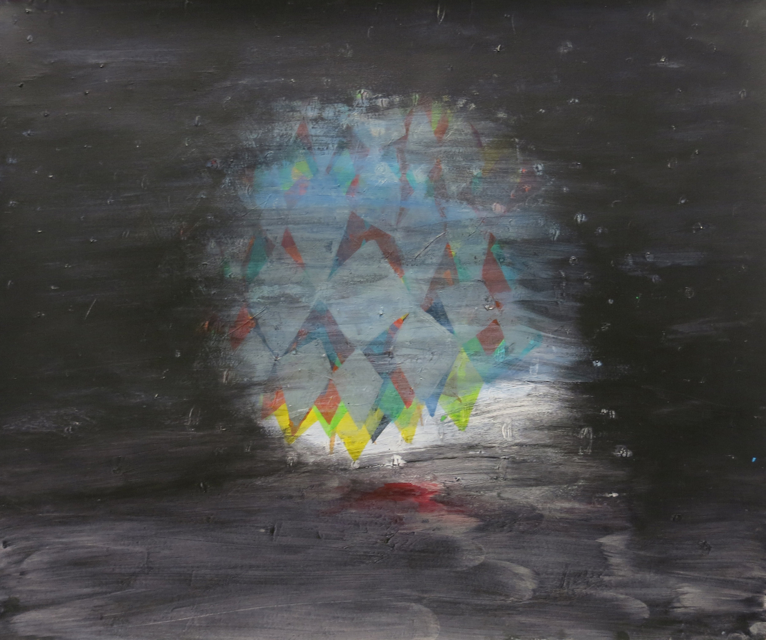Sarah Gamble, Untitled, 2012, mixed media on paper,14h x 17w in.