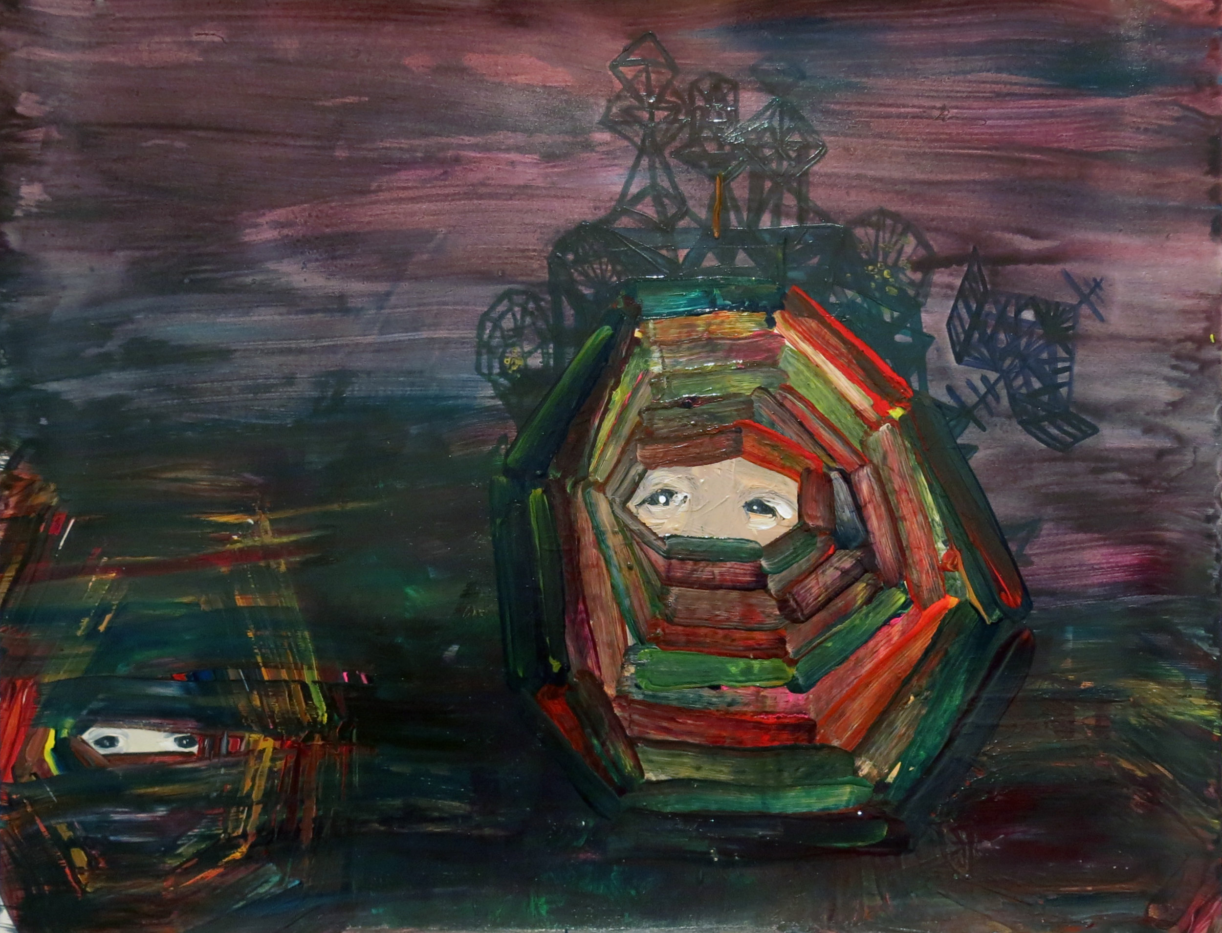 Sarah Gamble, Untitled, 2012, mixed media on paper, 18h x 24w in.