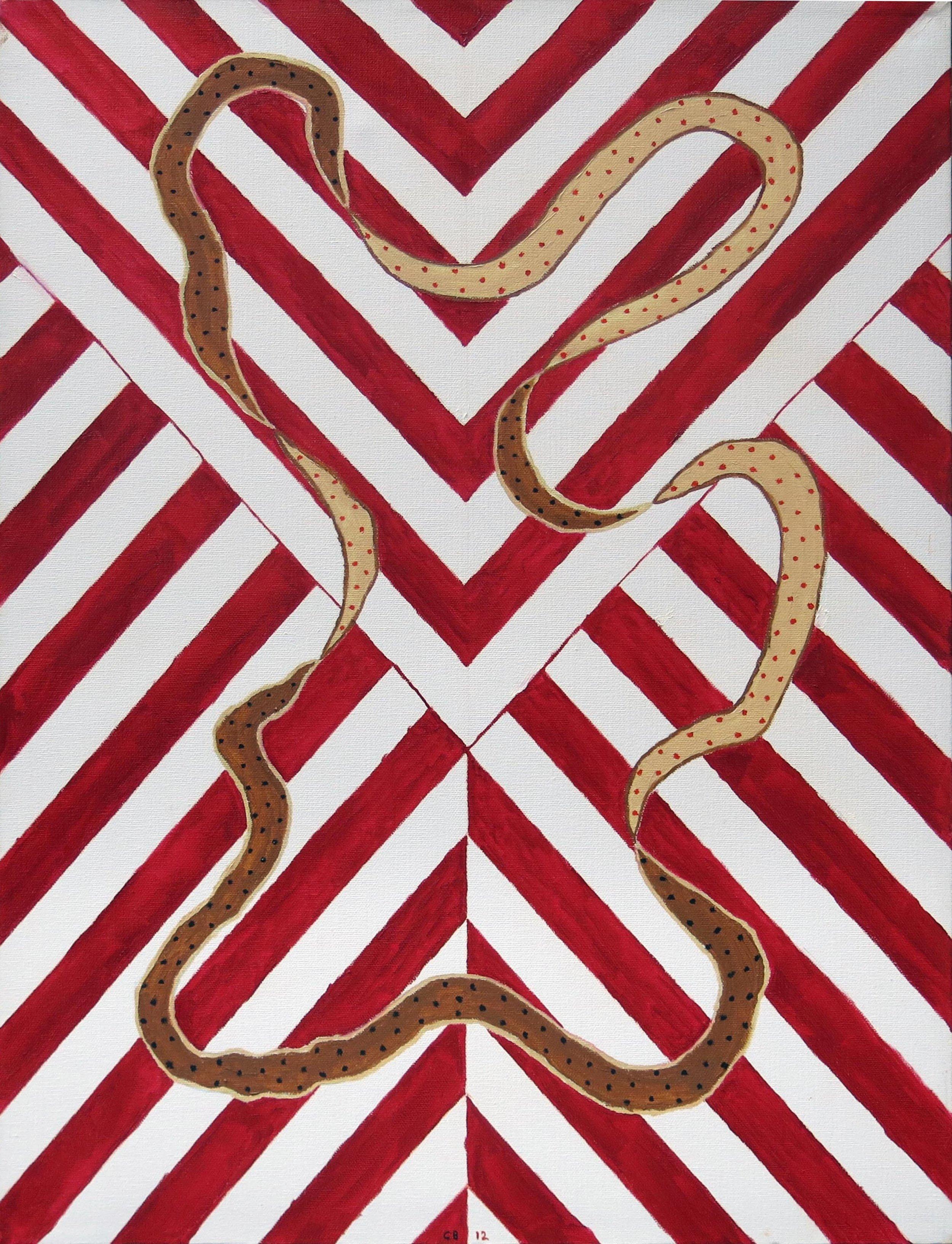 Chuck Boyce, Montsegur, 2012, oil on canvas, 24h x 18w in.