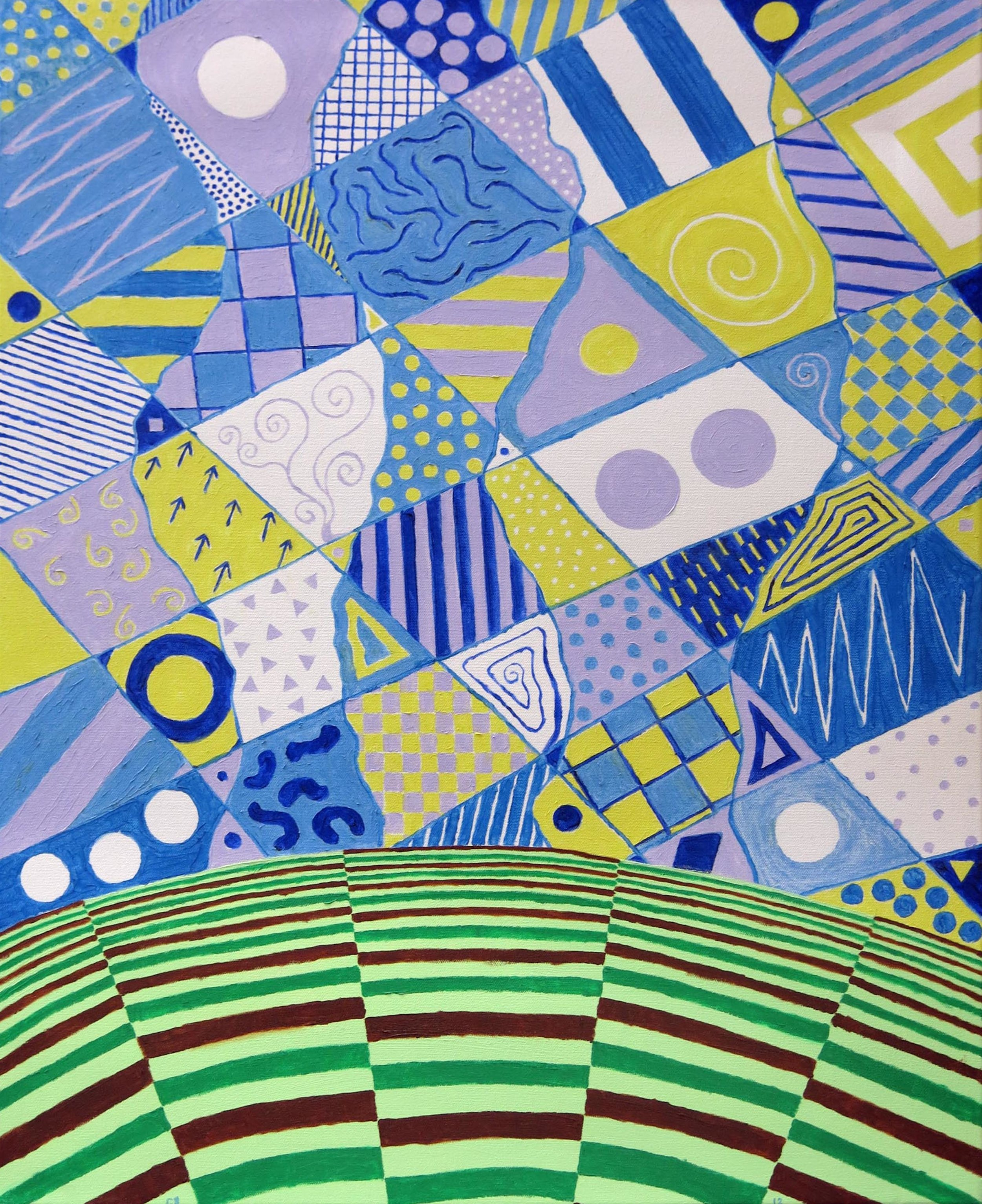 Chuck Boyce, Calico Sky, 2012, oil on canvas, 28h x 21.25w in.