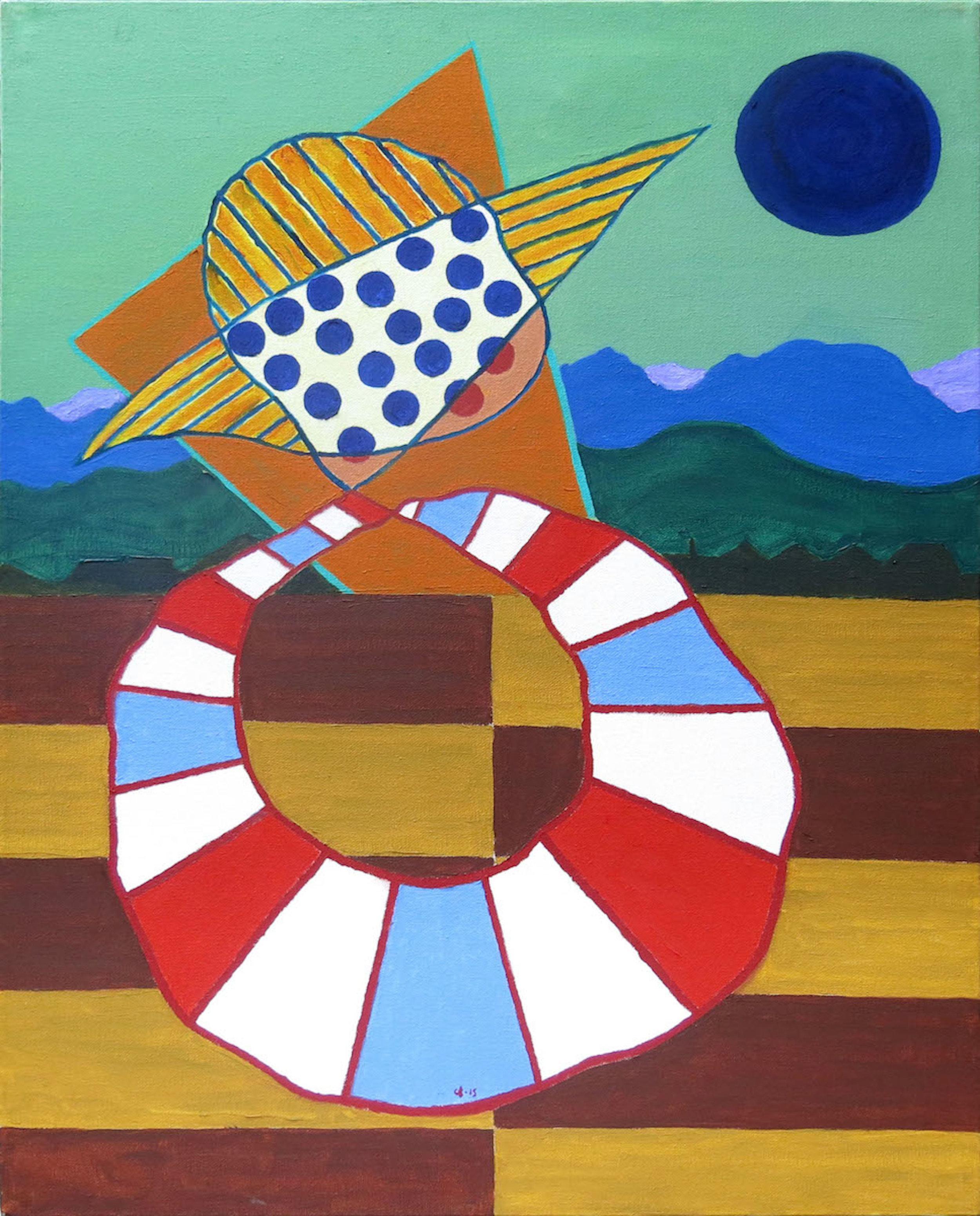 Chuck Boyce  Indochina, 2015, oil on canvas, 28h x 22w in.