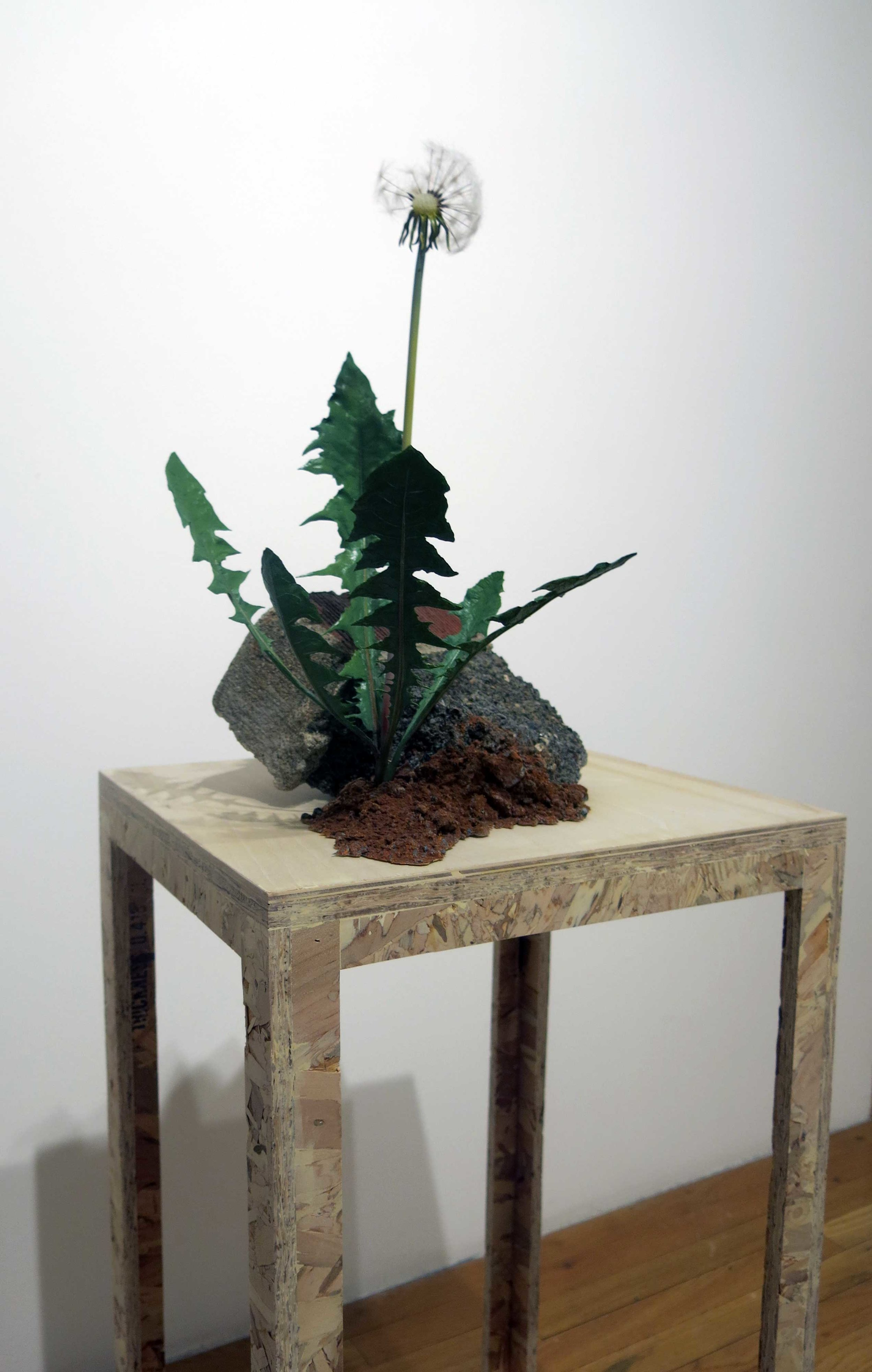 Markus Baenziger, Give or Take, 2017, mixed media, (with pedastal) 45.5h x 15w x 13.5d in.