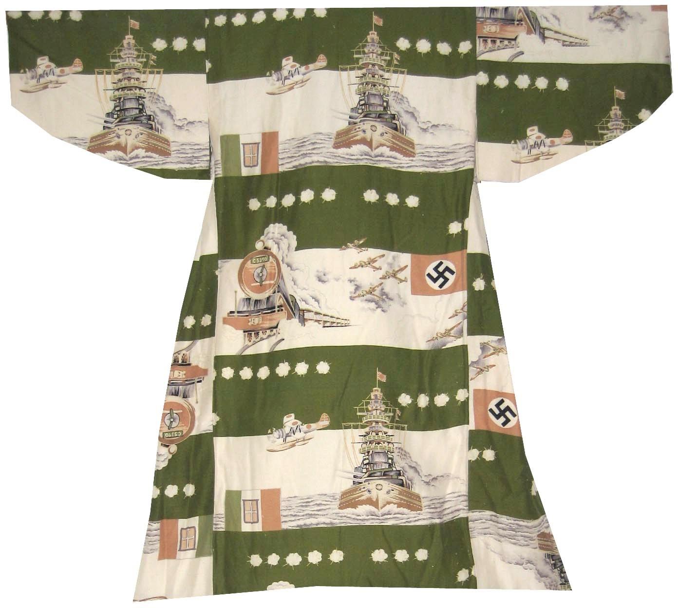 Axis, Boy's Kimono, c. 1940-41, rayon, 29h x 32w in.