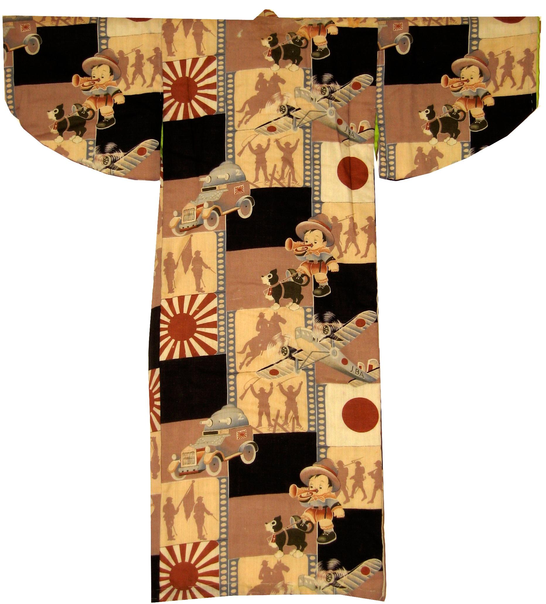 Norakuro, Boy's Kimono, c. 1933, wool, 34h x 32w in.