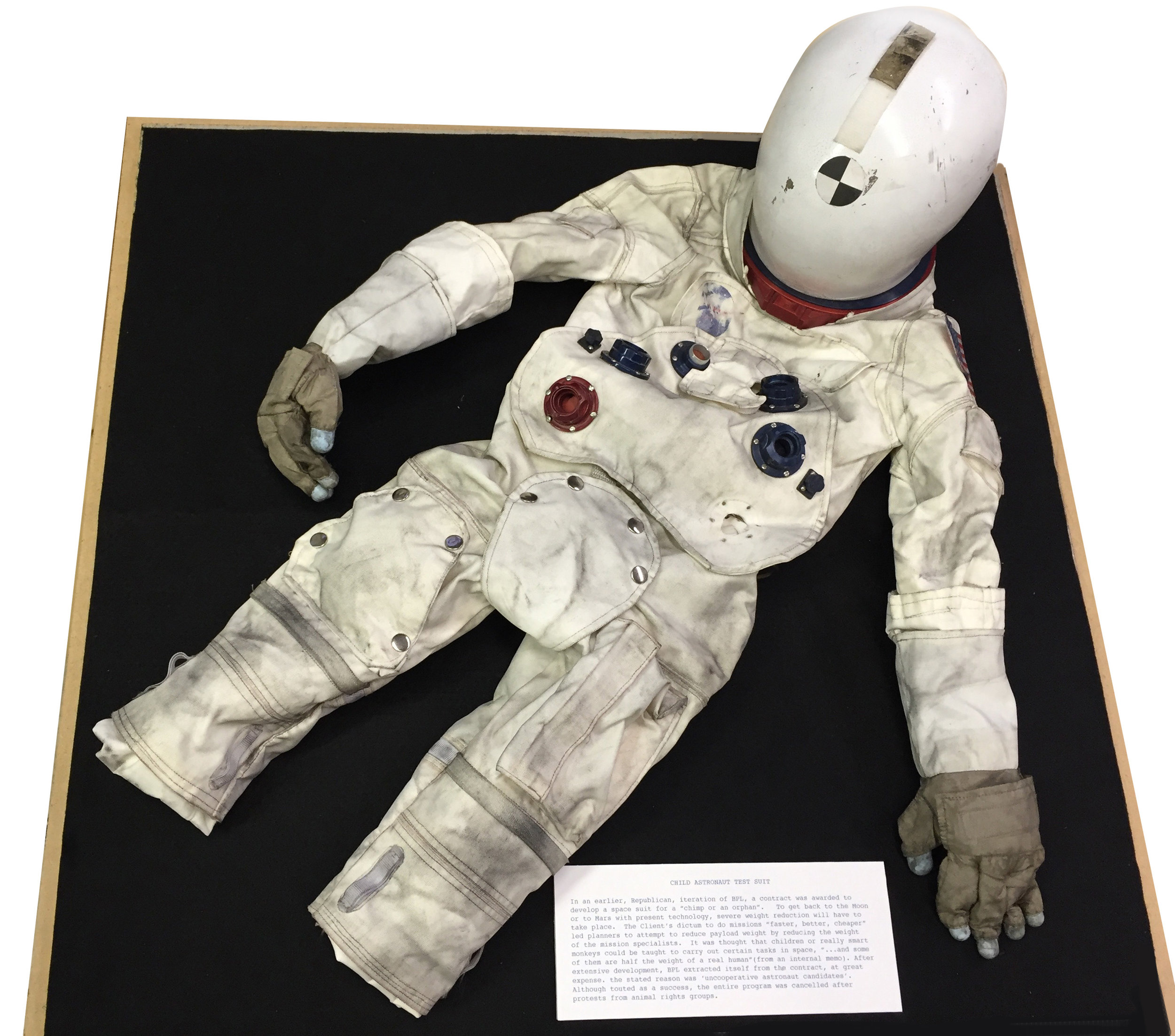 Steven Brower,  Child Astronaut Test Suit,  2007, nylon, aluminum, silicone, steel, 7h x 19w x 17d in.