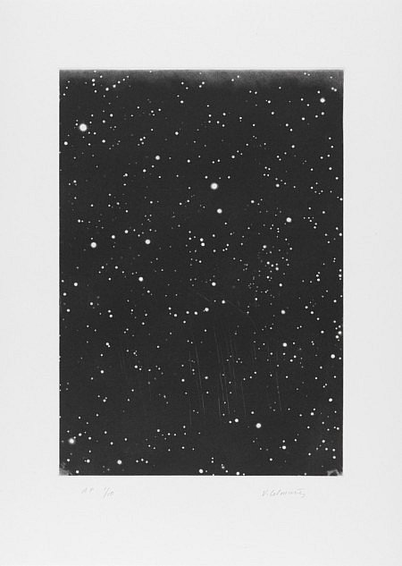 Vija Celmins,  DARK GALAXY,  2010, mezzotint etching on Magnani Pescia Sarinato, 18.25h x 13.625w in.