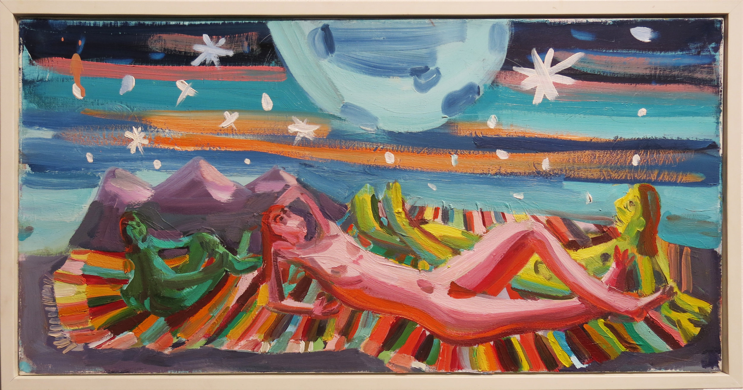 Judith Linhares,  Star Light,  2006, oil on linen, 11h x 21w in.
