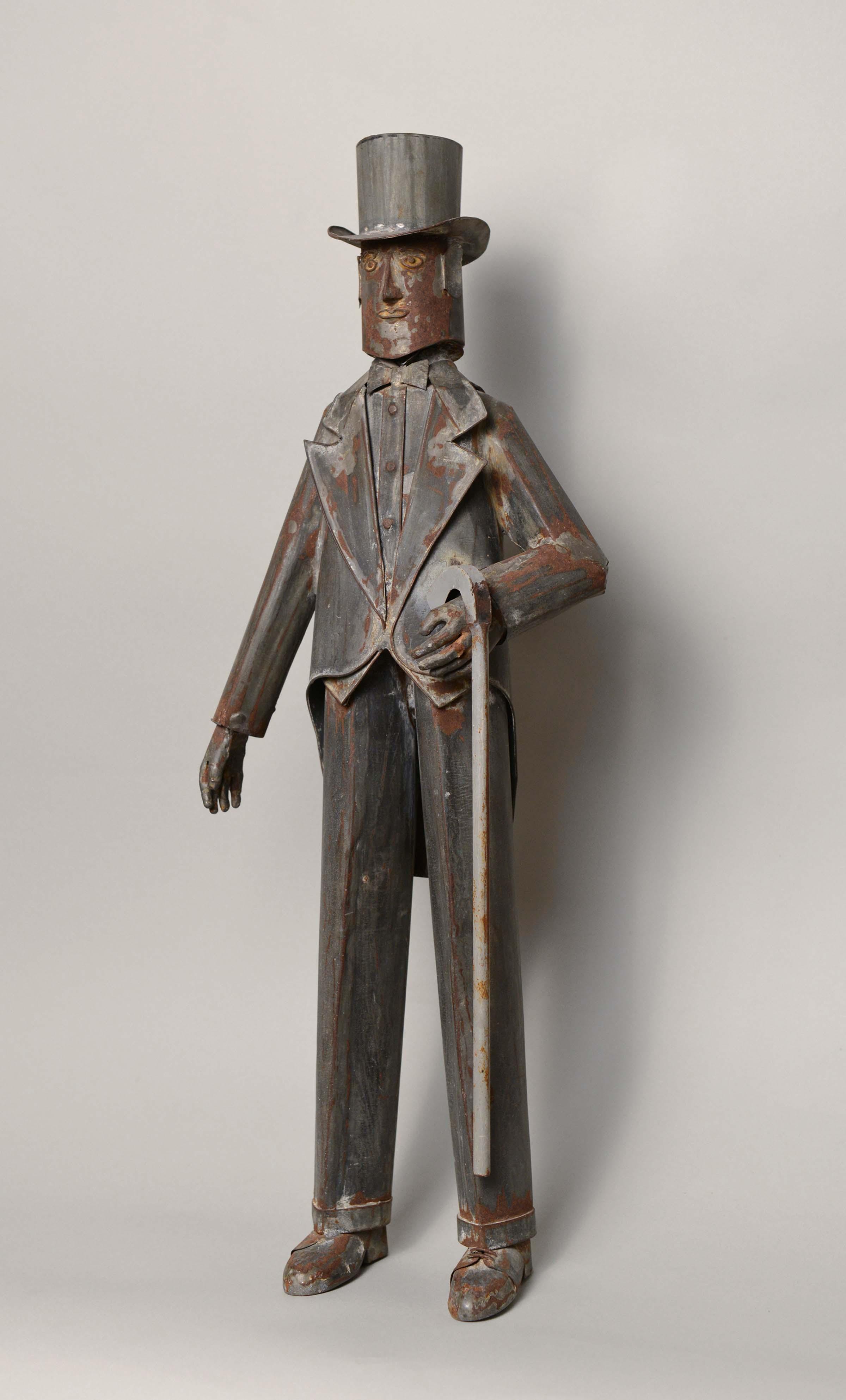 Anonymous, Brooklyn, NY, Tin Man, c. 1935, tin, 27h in.